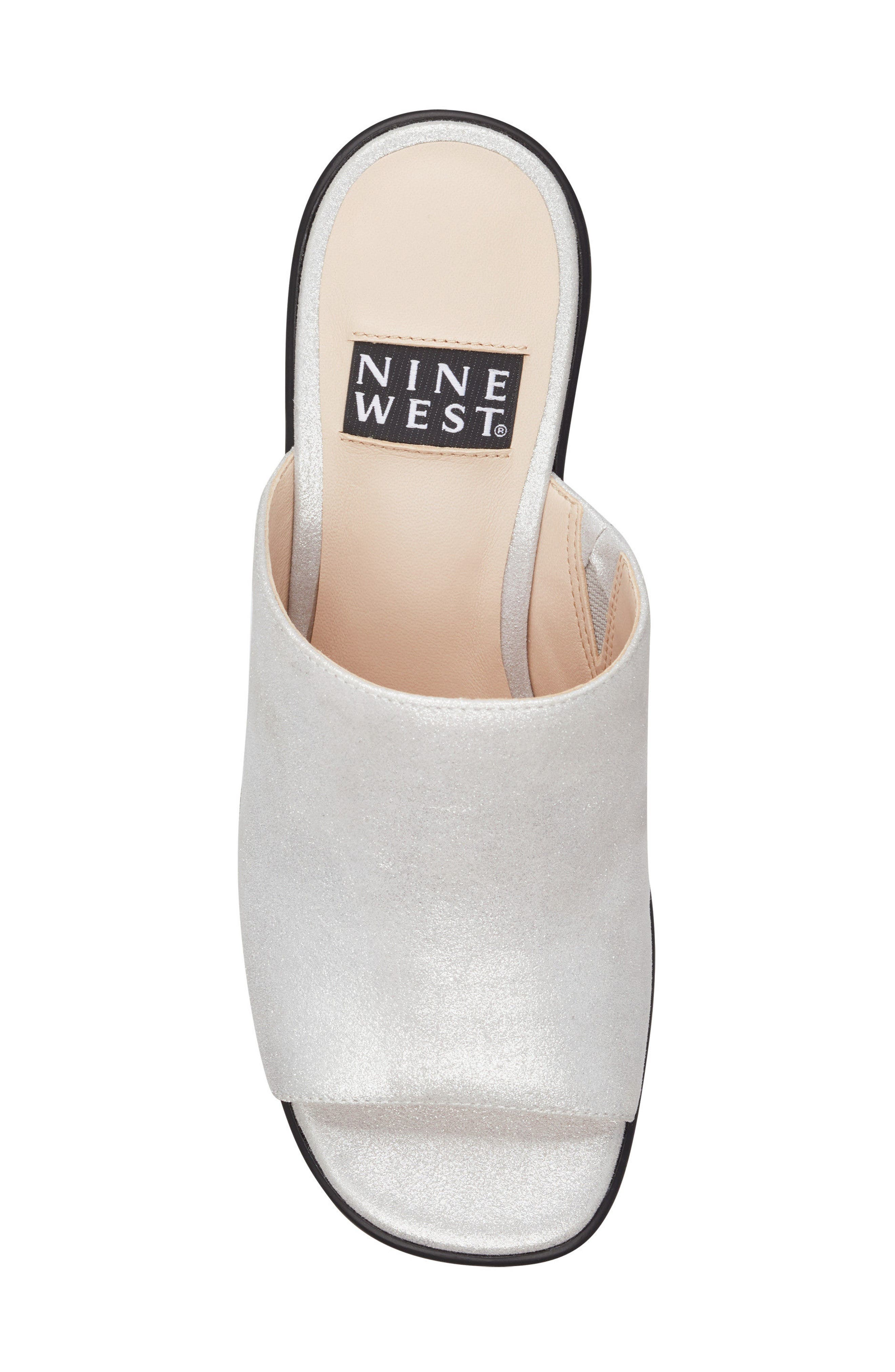 Tomo - 40th Anniversary Capsule Collection Platform Sandal,                             Alternate thumbnail 5, color,                             Light Silver Leather