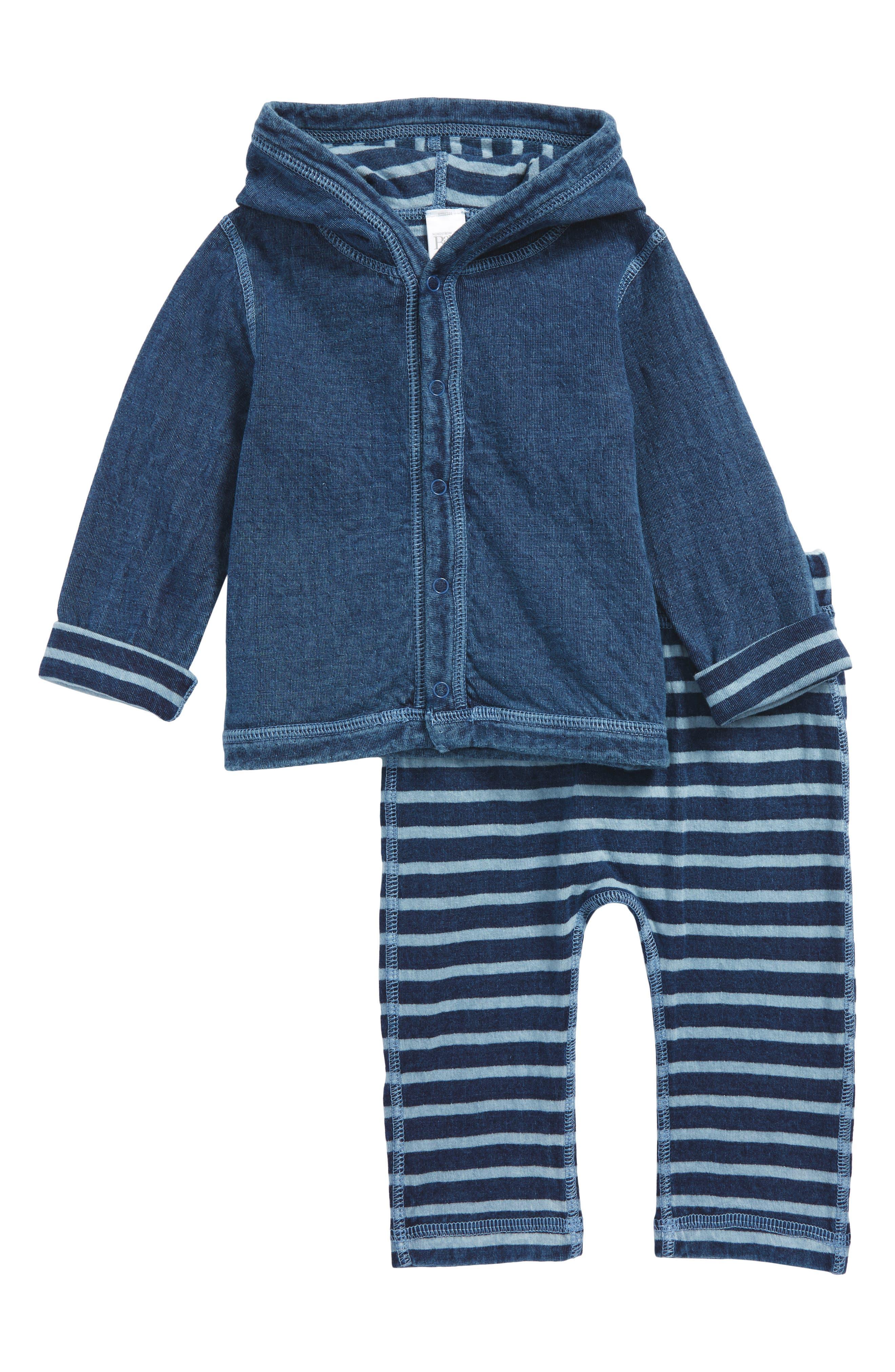 Nordstrom Baby Reversible Hoodie & Pants Set (Baby Boys)