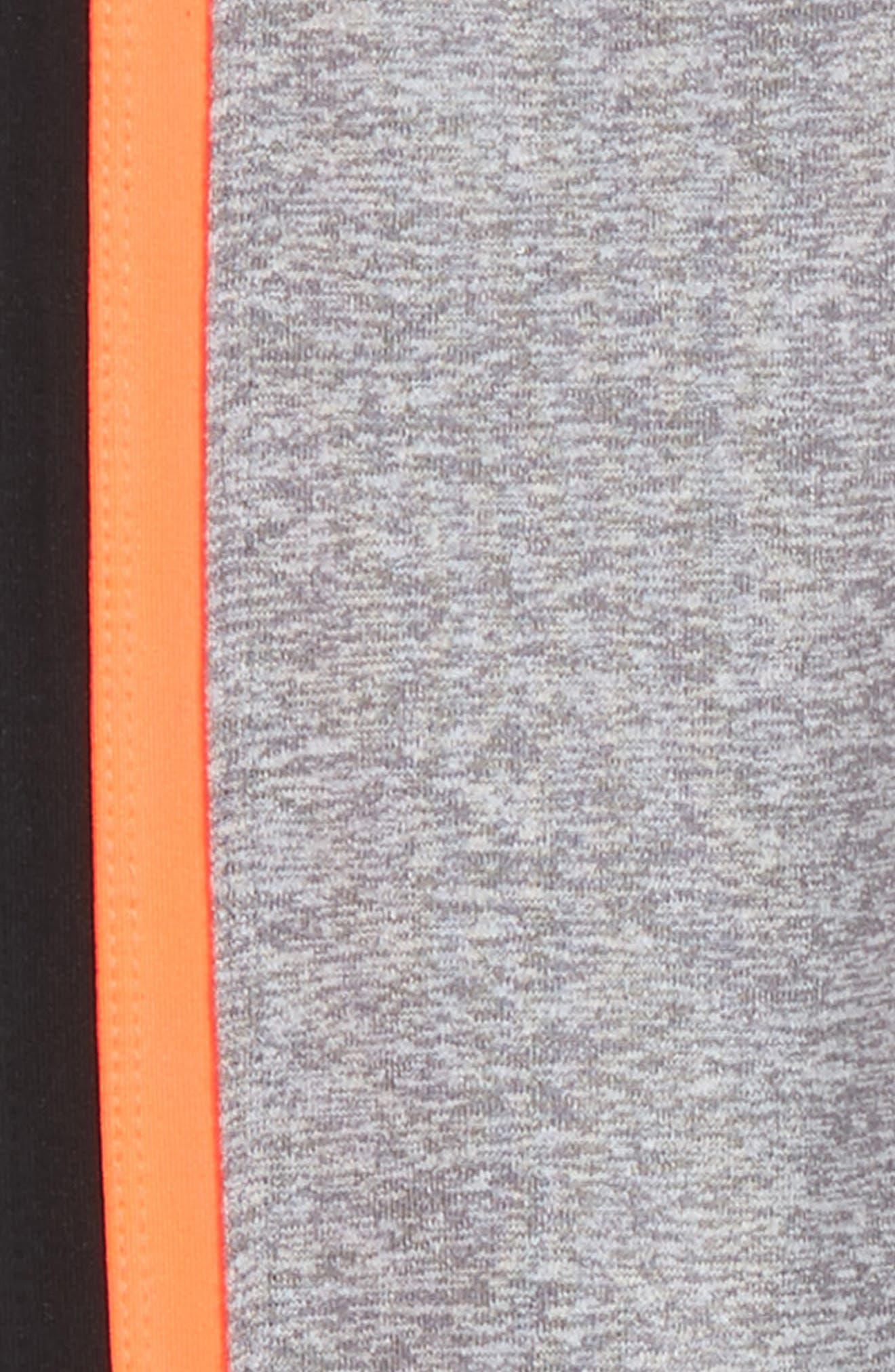 Side Stripe High Waist Leggings,                             Alternate thumbnail 2, color,                             Silver Slate Melange