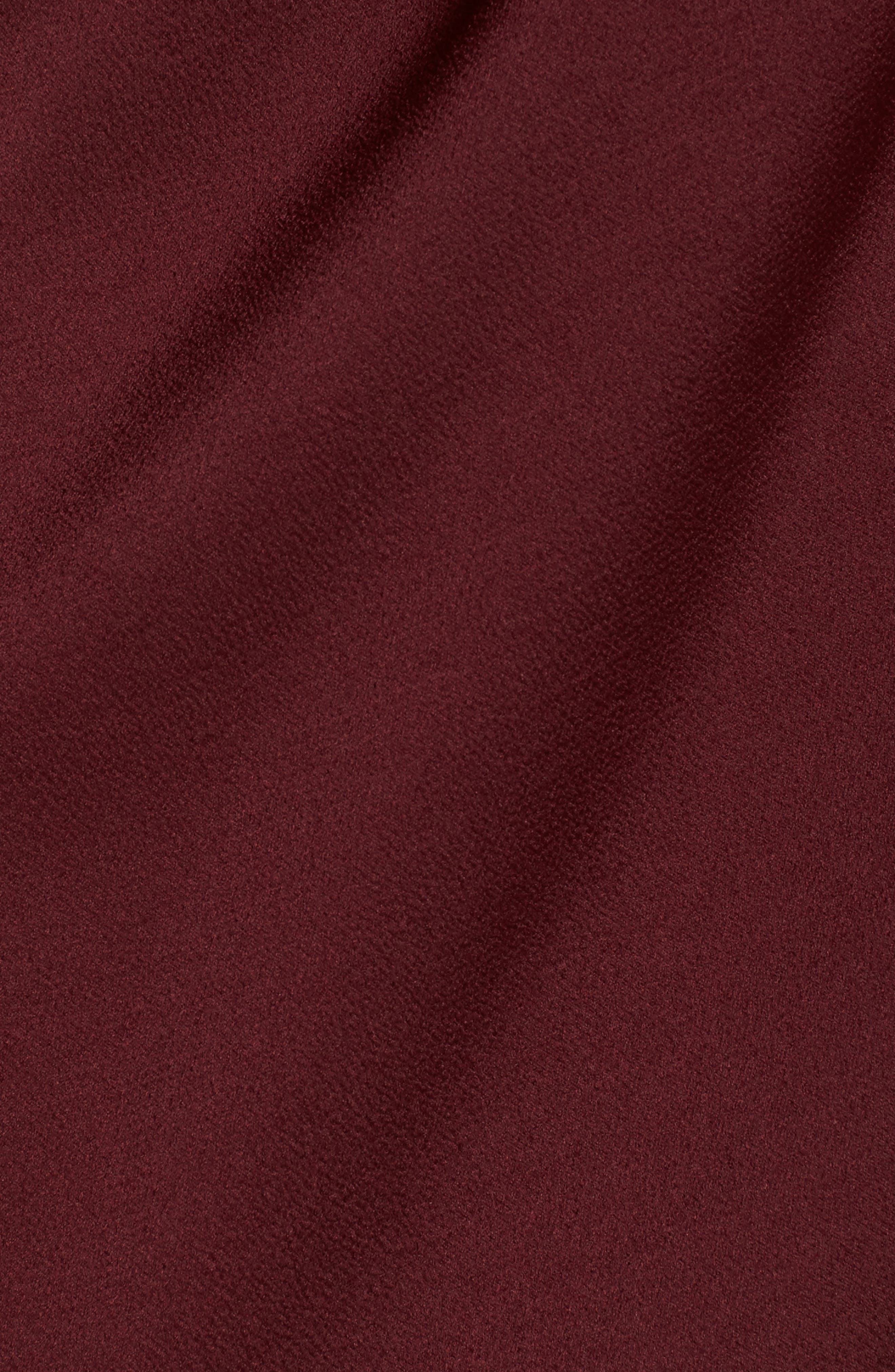 Luxe Plunging Frill Maxi Dress,                             Alternate thumbnail 5, color,                             Garnet