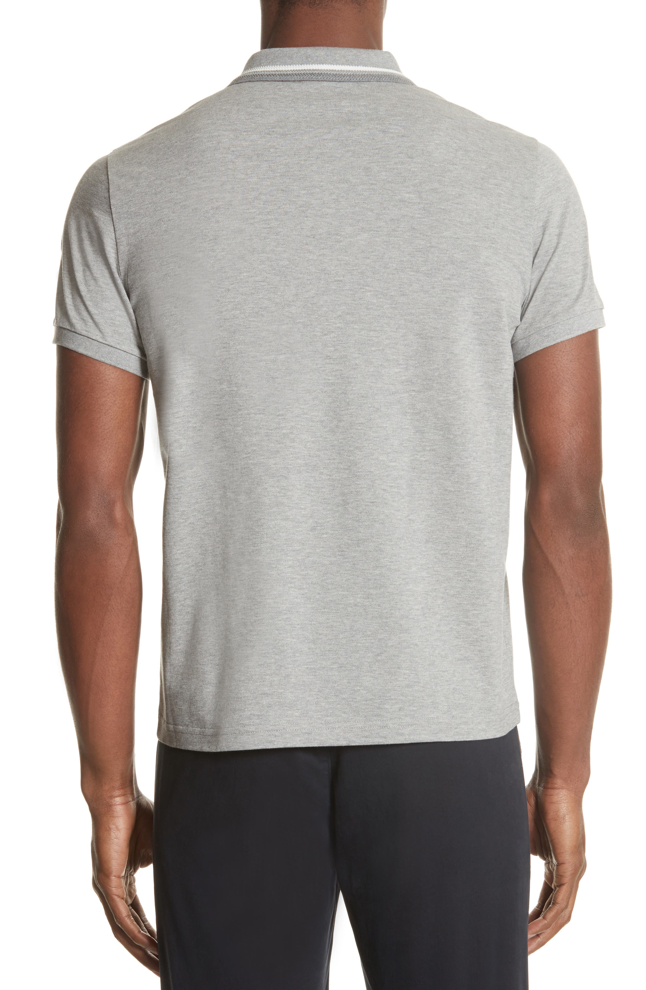 Tipped Jersey Polo,                             Alternate thumbnail 2, color,                             Light Grey