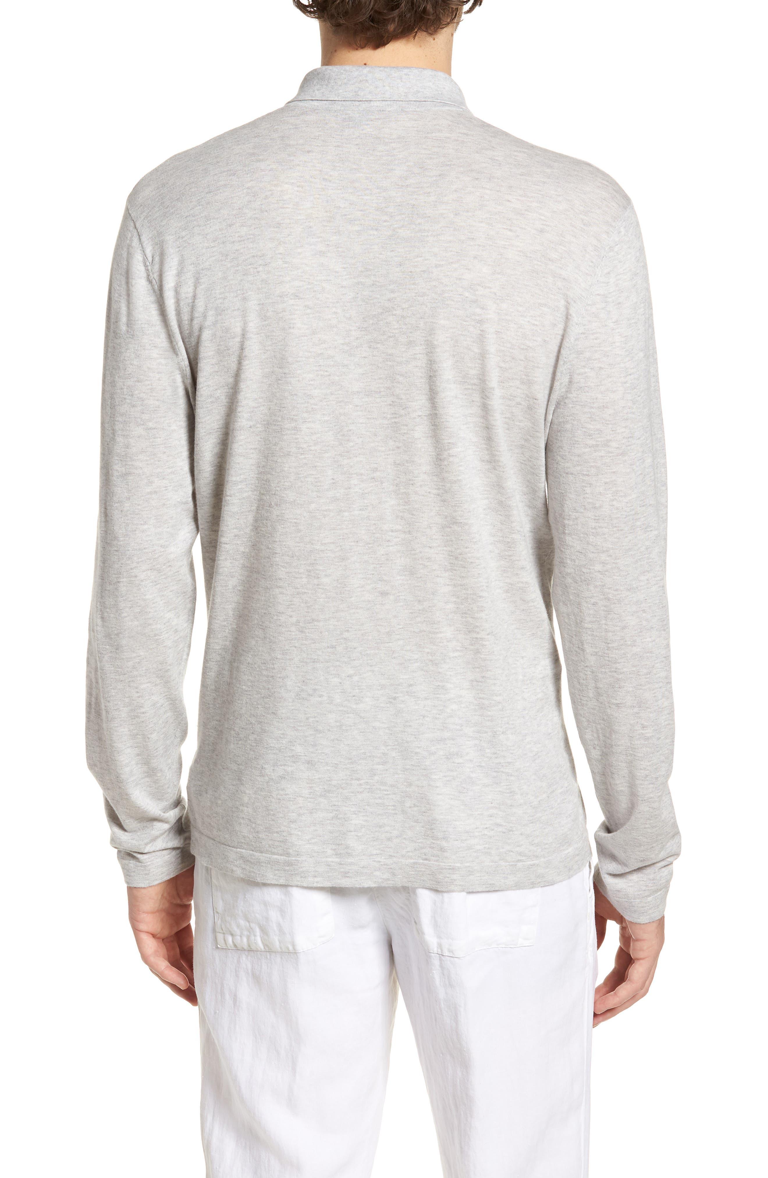 Fine Gauge Regular Fit Cotton Polo,                             Alternate thumbnail 2, color,                             Platinum
