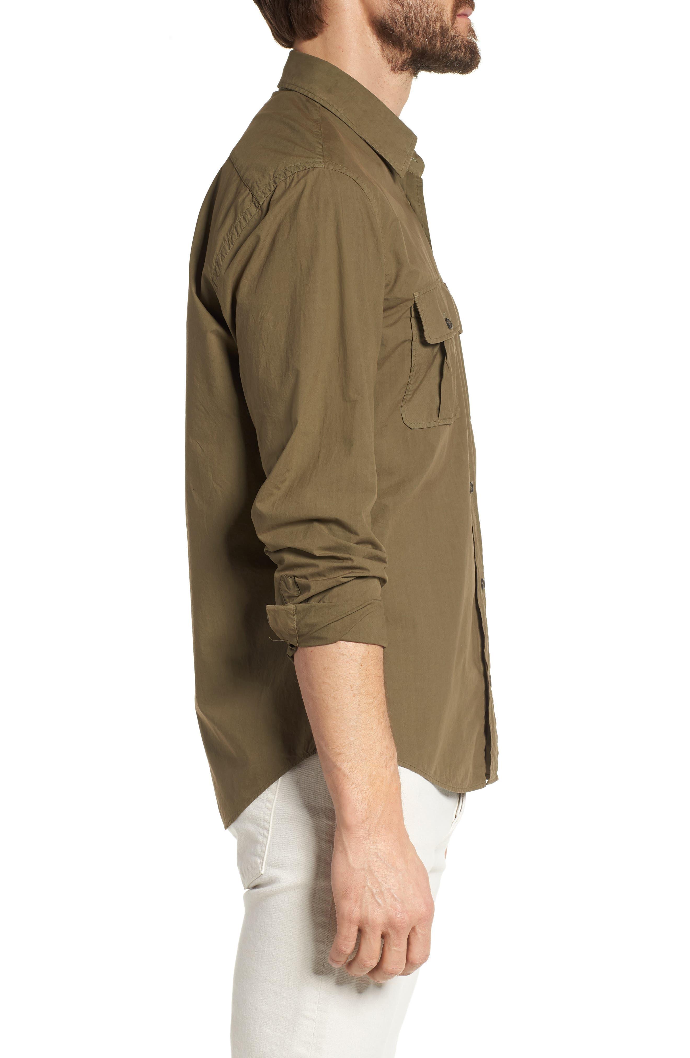 Alternate Image 4  - Billy Reid Brantley Slim Fit Sport Shirt