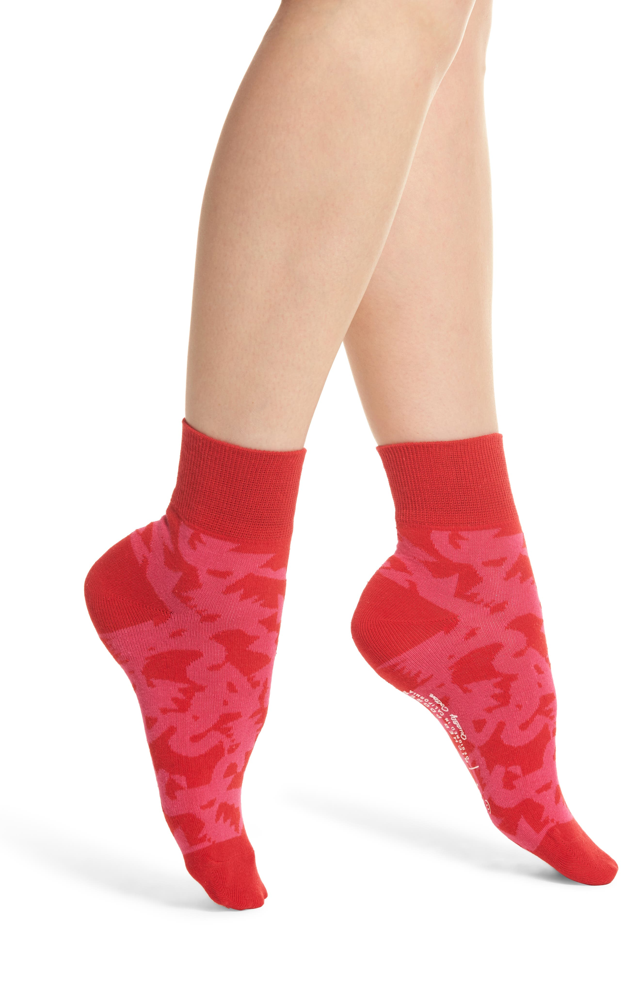 Abstract Will Bryant Socks,                             Main thumbnail 1, color,                             Red