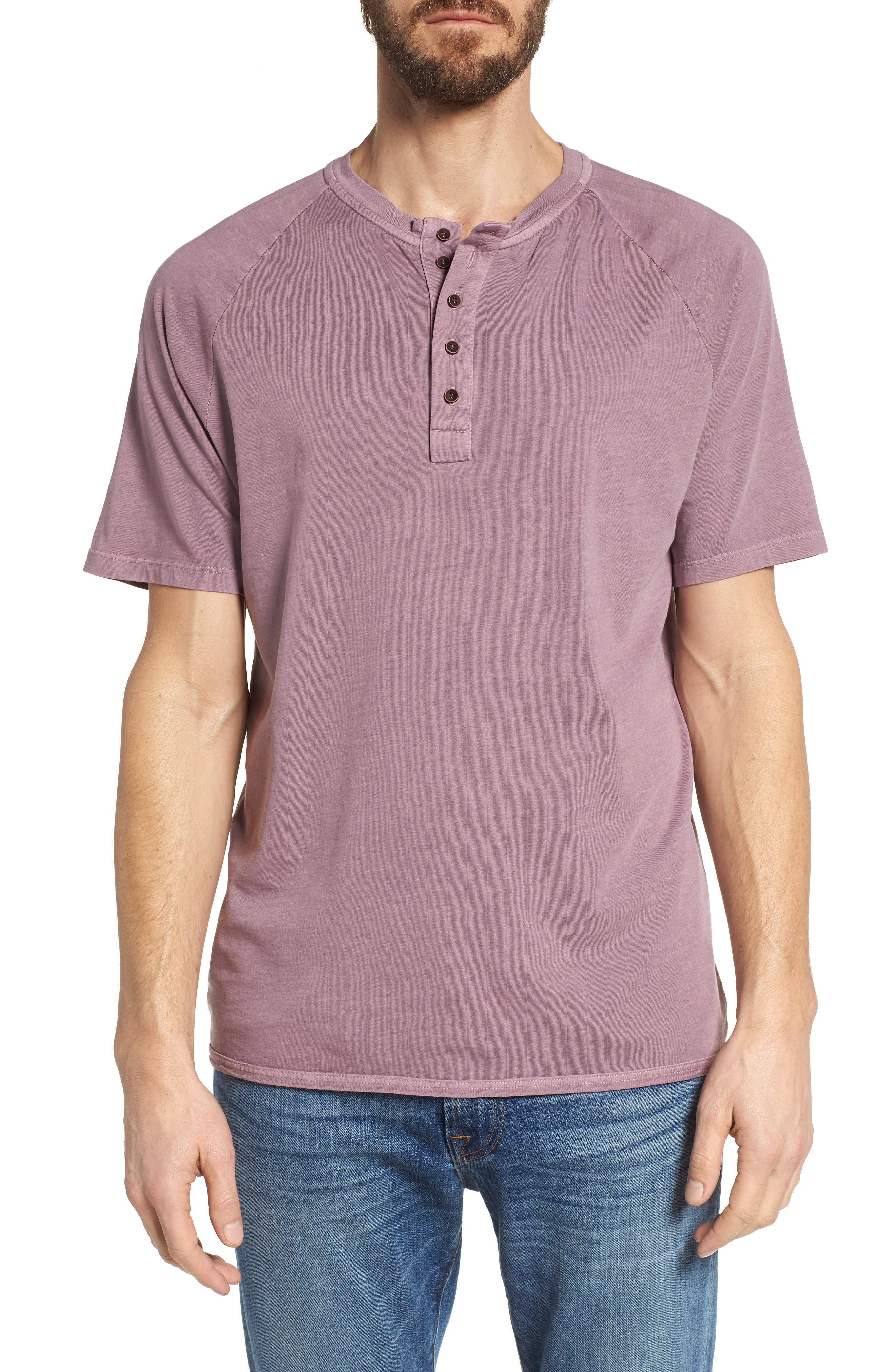 Short Sleeve Henley,                         Main,                         color, Wild Rose