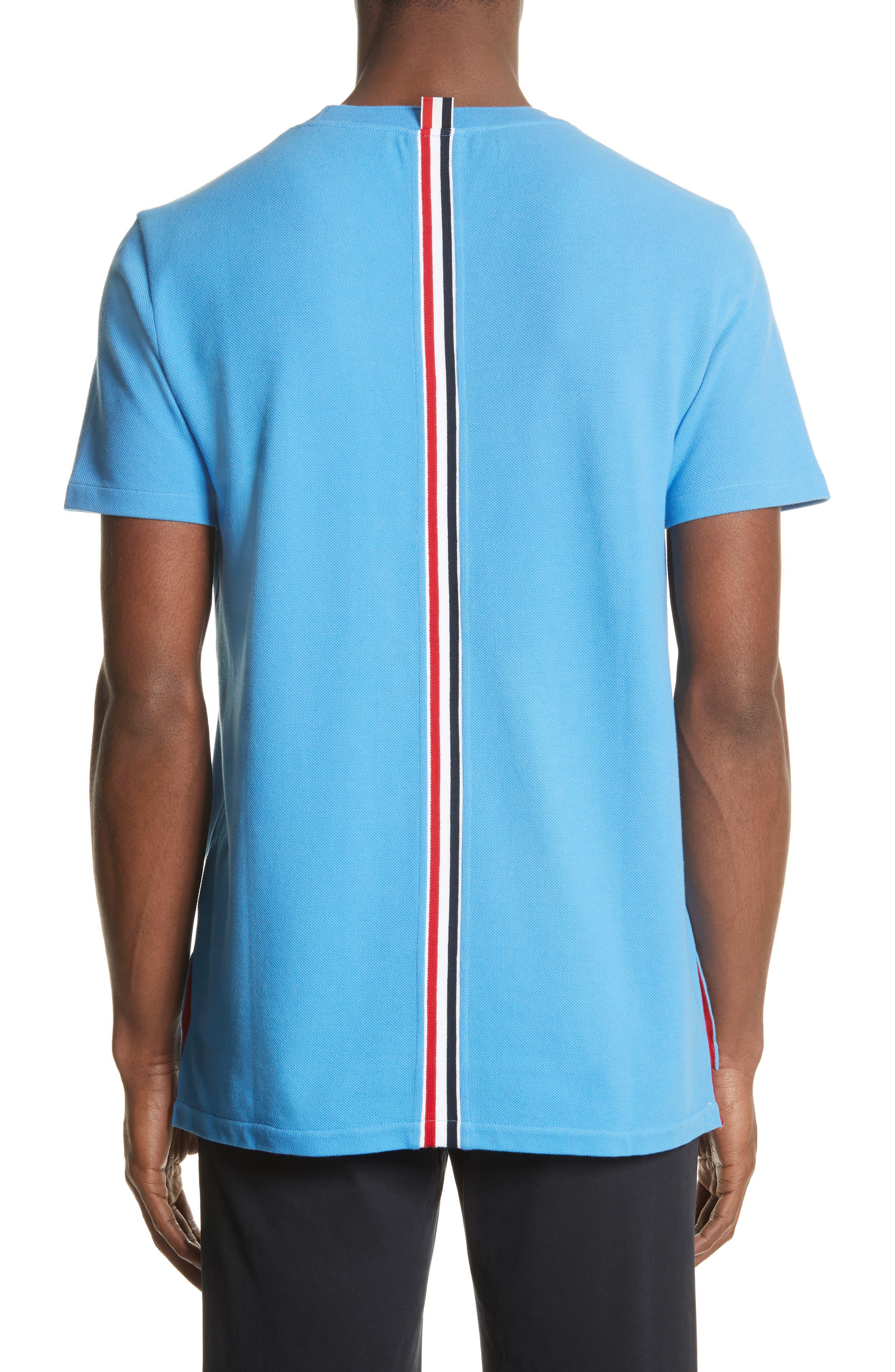 Stripe Crewneck T-Shirt,                             Alternate thumbnail 2, color,                             Light Blue