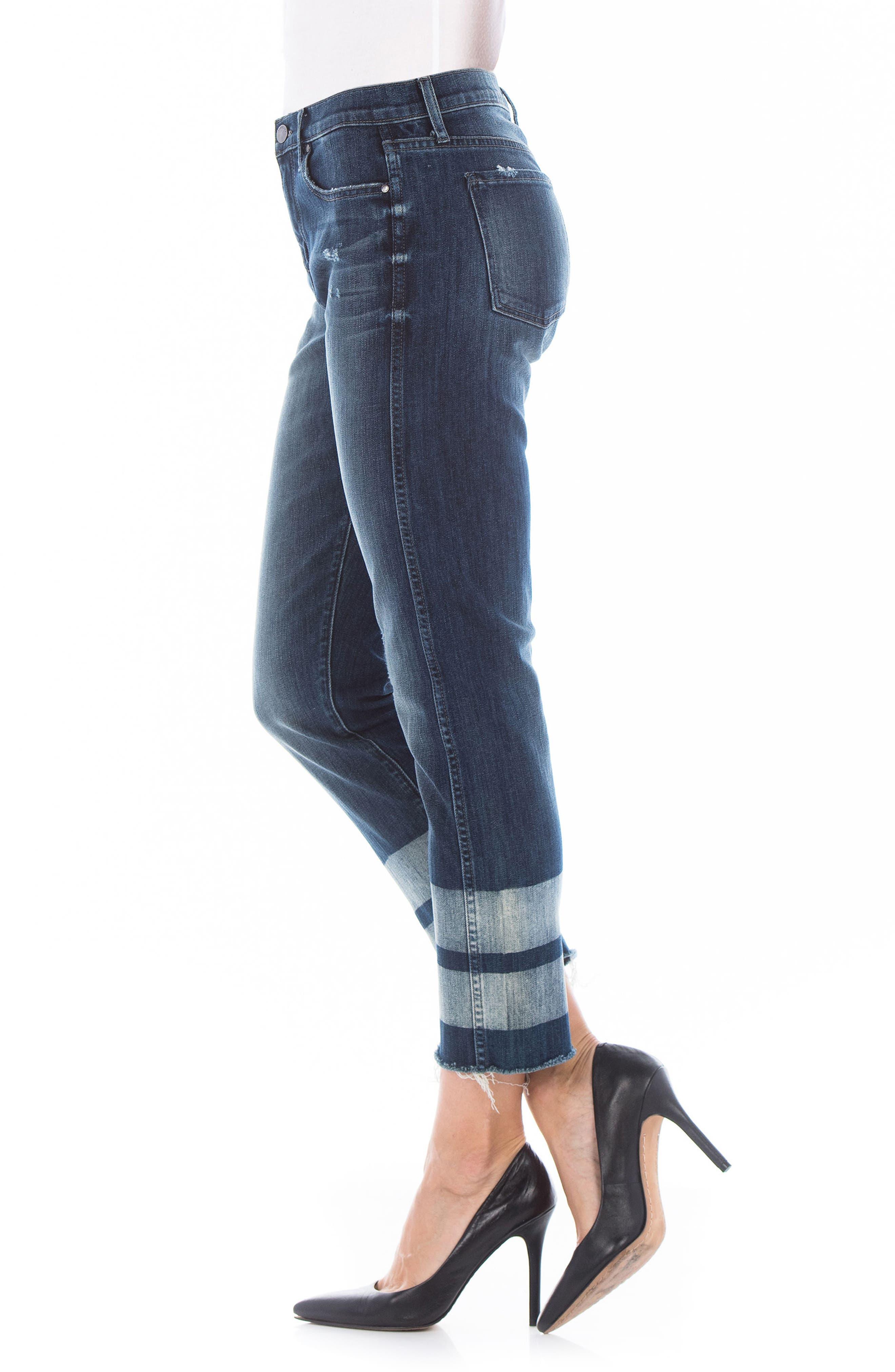 Stevie Crop Straight Leg Jeans,                             Alternate thumbnail 3, color,                             Cascade