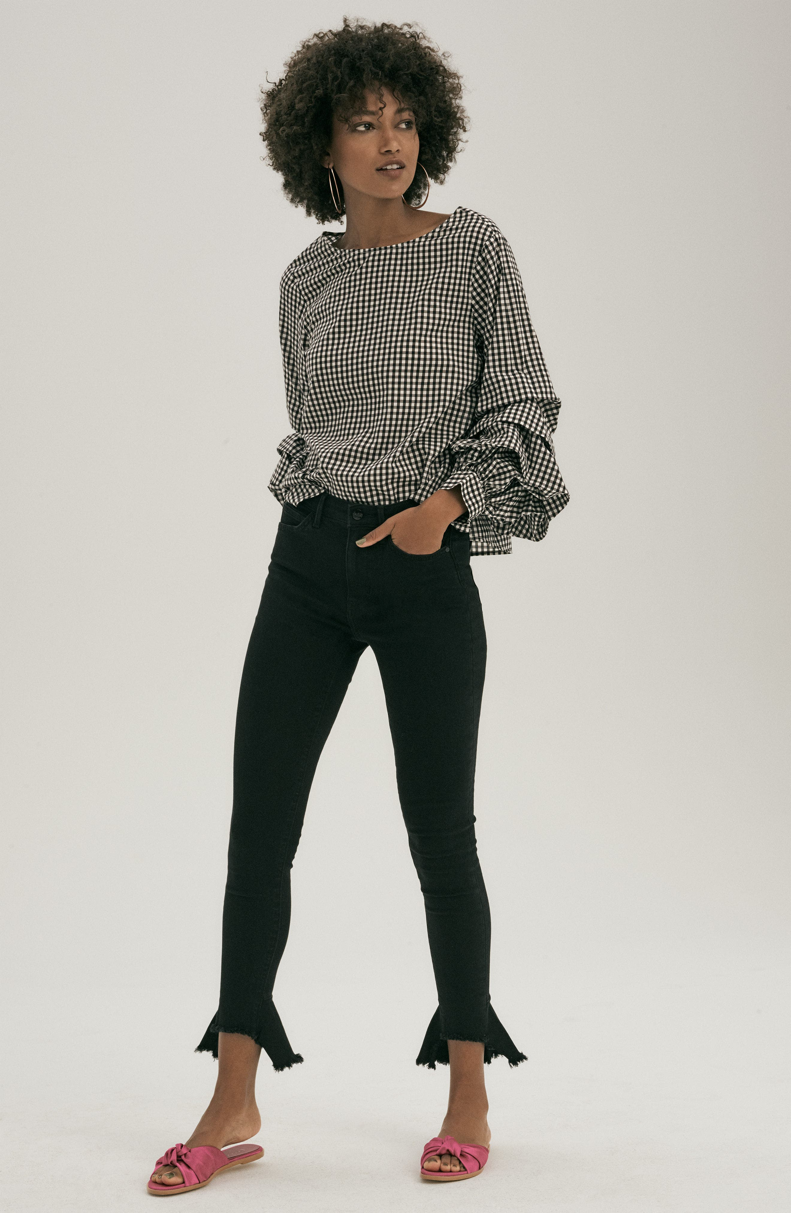 Delphine Tiered Sleeve Top,                             Alternate thumbnail 2, color,