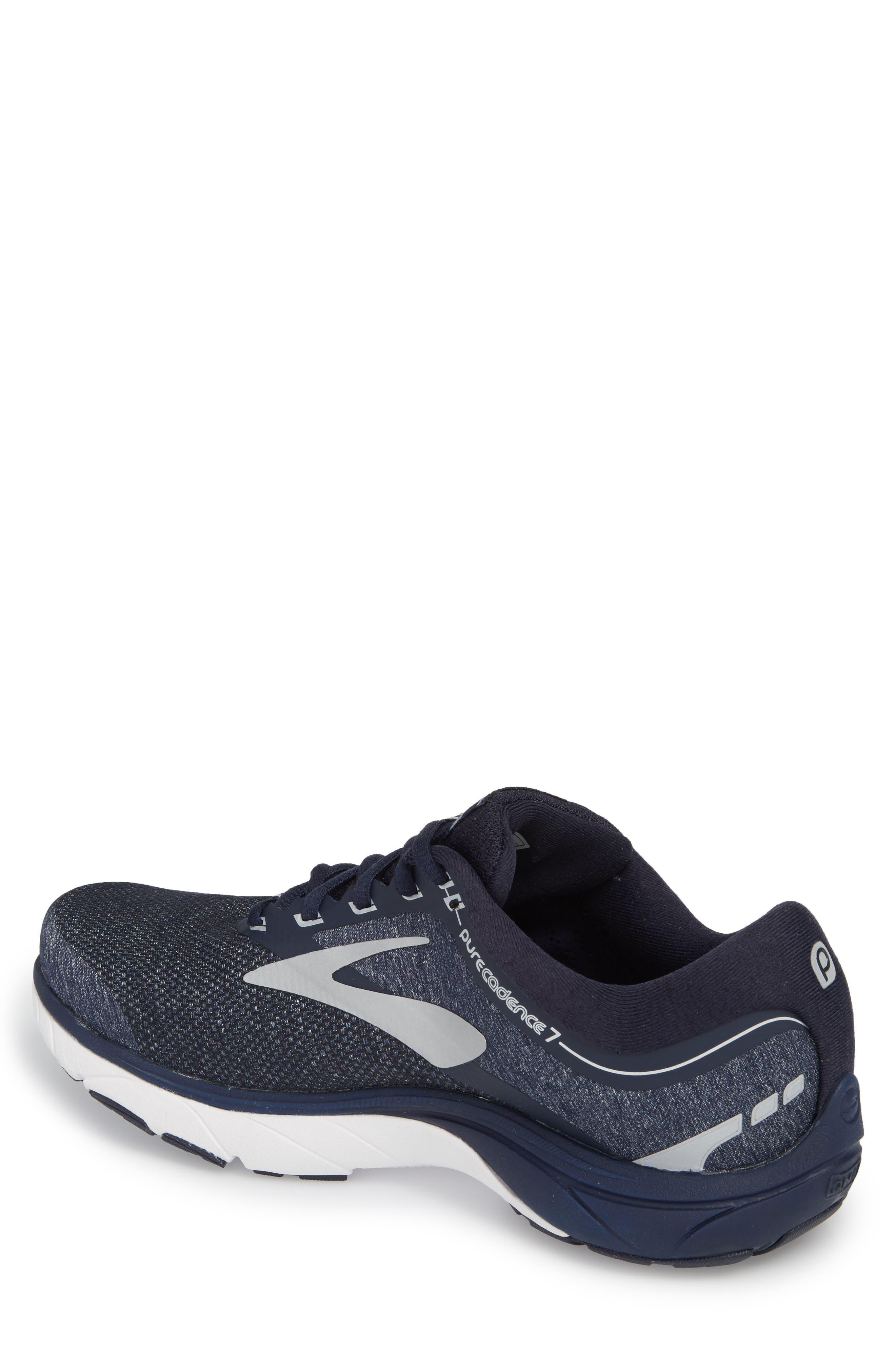 PureCadence 7 Road Running Shoe,                             Alternate thumbnail 2, color,                             Peacoat/ Silver/ White