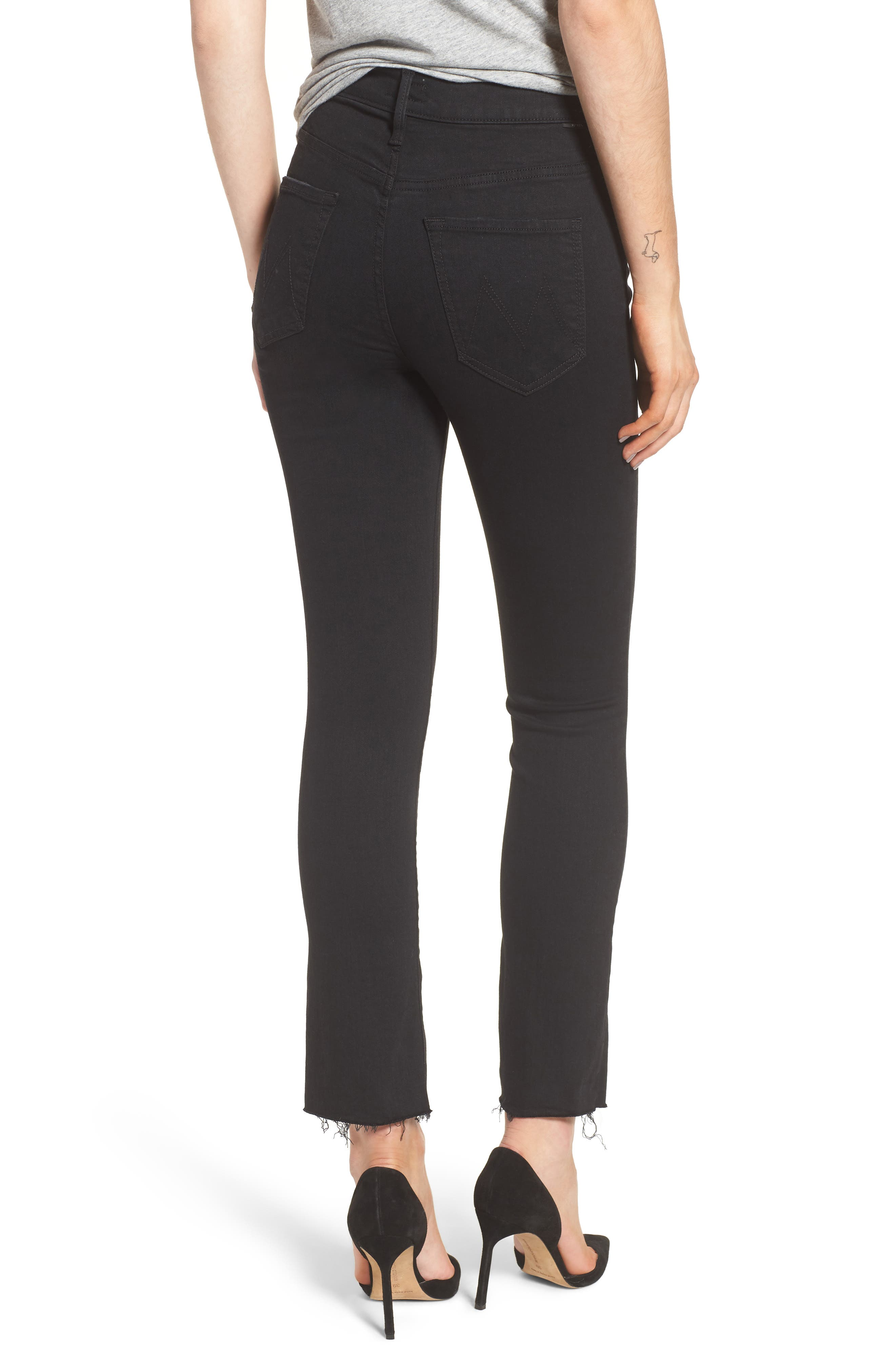 The Insider High Waist Slit Ankle Bootcut Jeans,                             Alternate thumbnail 2, color,                             Not Guilty