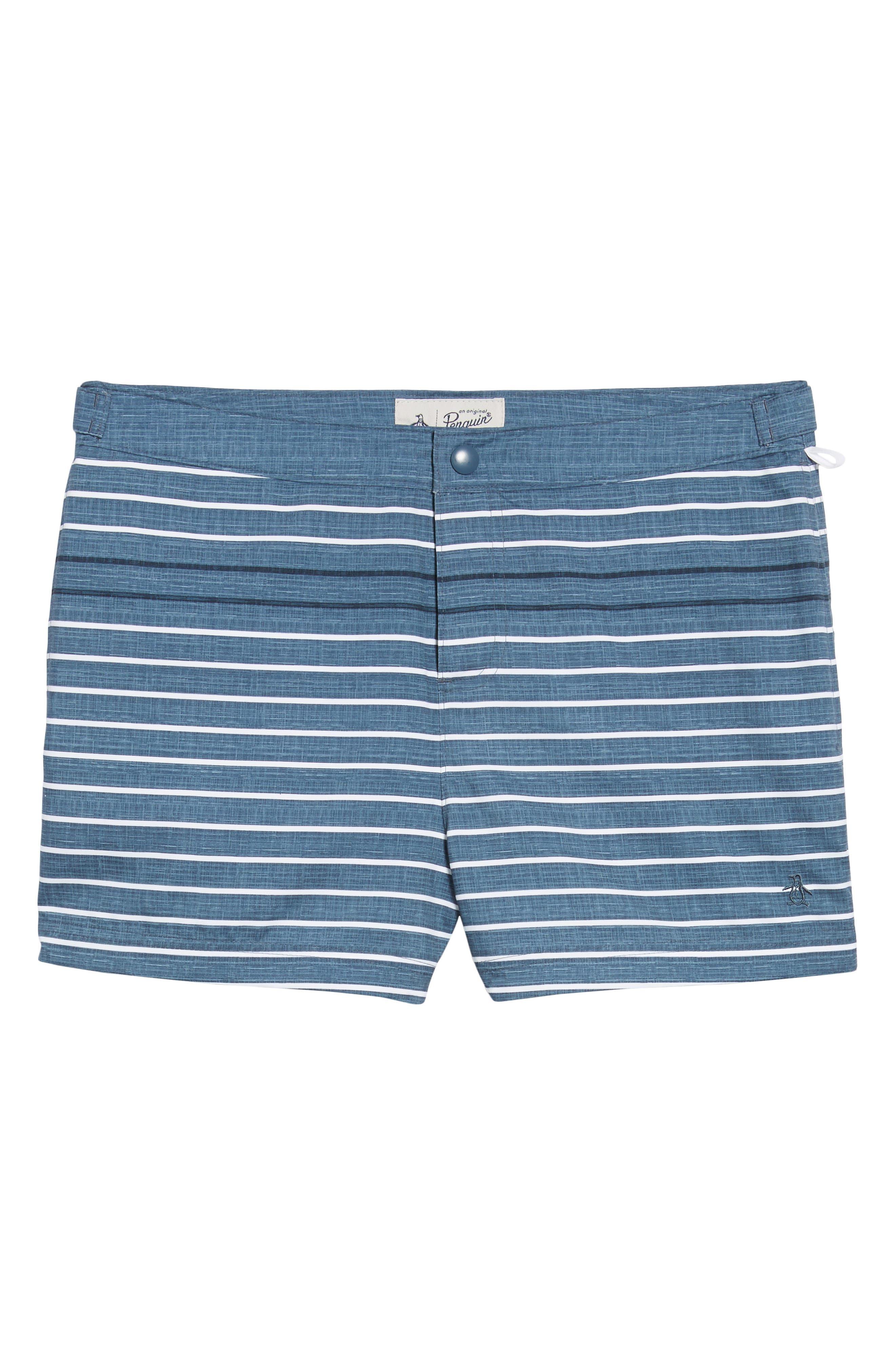 Feeder Stripe Board Shorts,                             Alternate thumbnail 6, color,                             Vintage Indigo