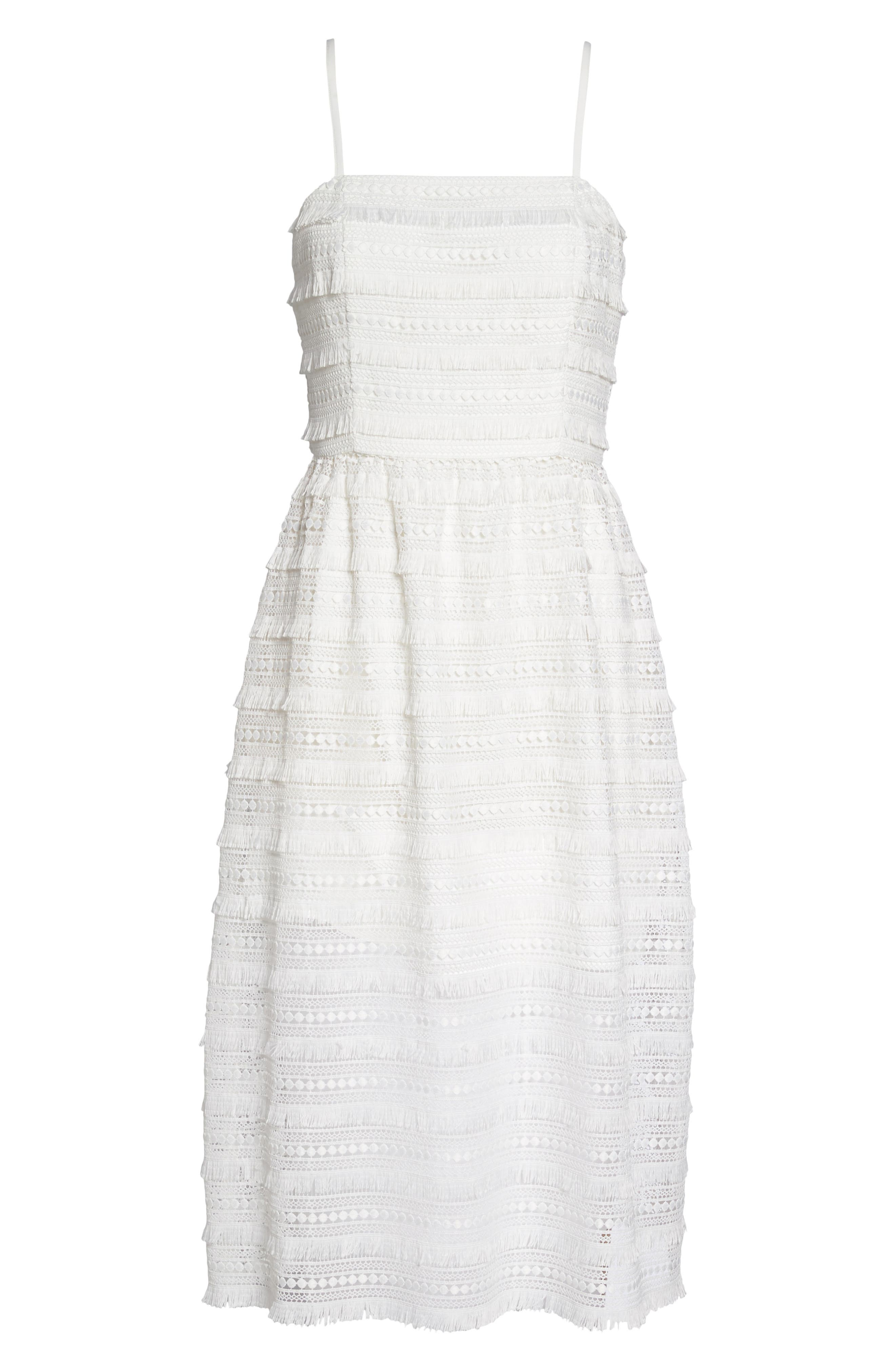 Maybe Mozza Midi Sundress,                             Alternate thumbnail 6, color,                             White