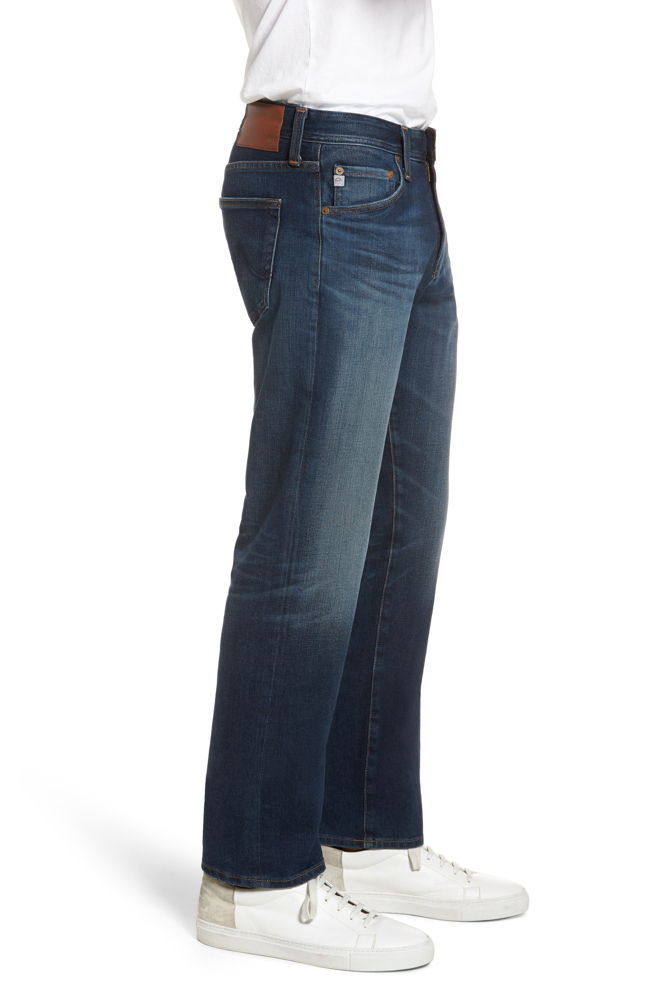 Graduate Slim Straight Leg Jeans,                             Alternate thumbnail 3, color,                             9 Years Faring