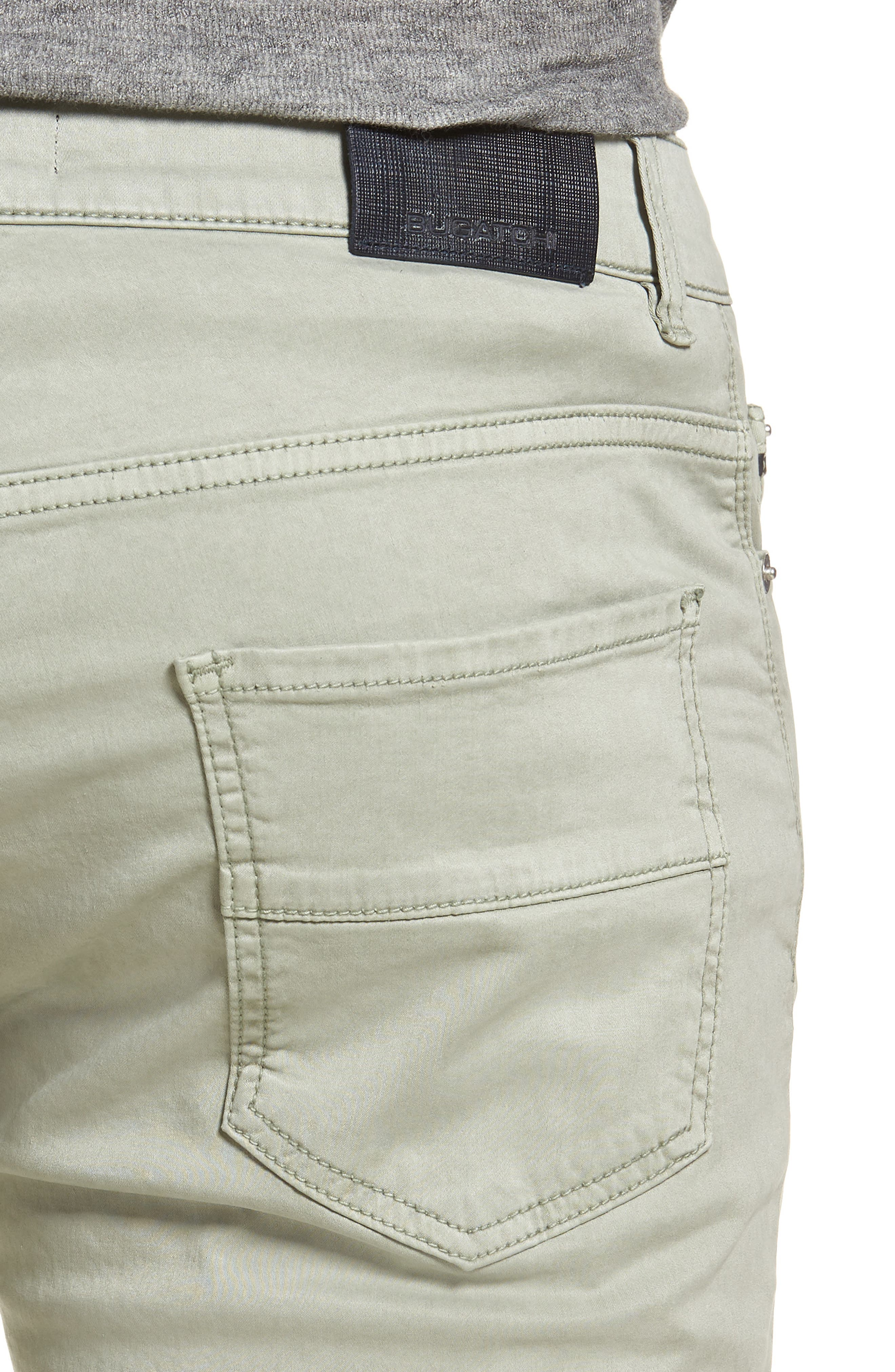 Slim Fit Washed Five-Pocket Pants,                             Alternate thumbnail 4, color,                             Khaki