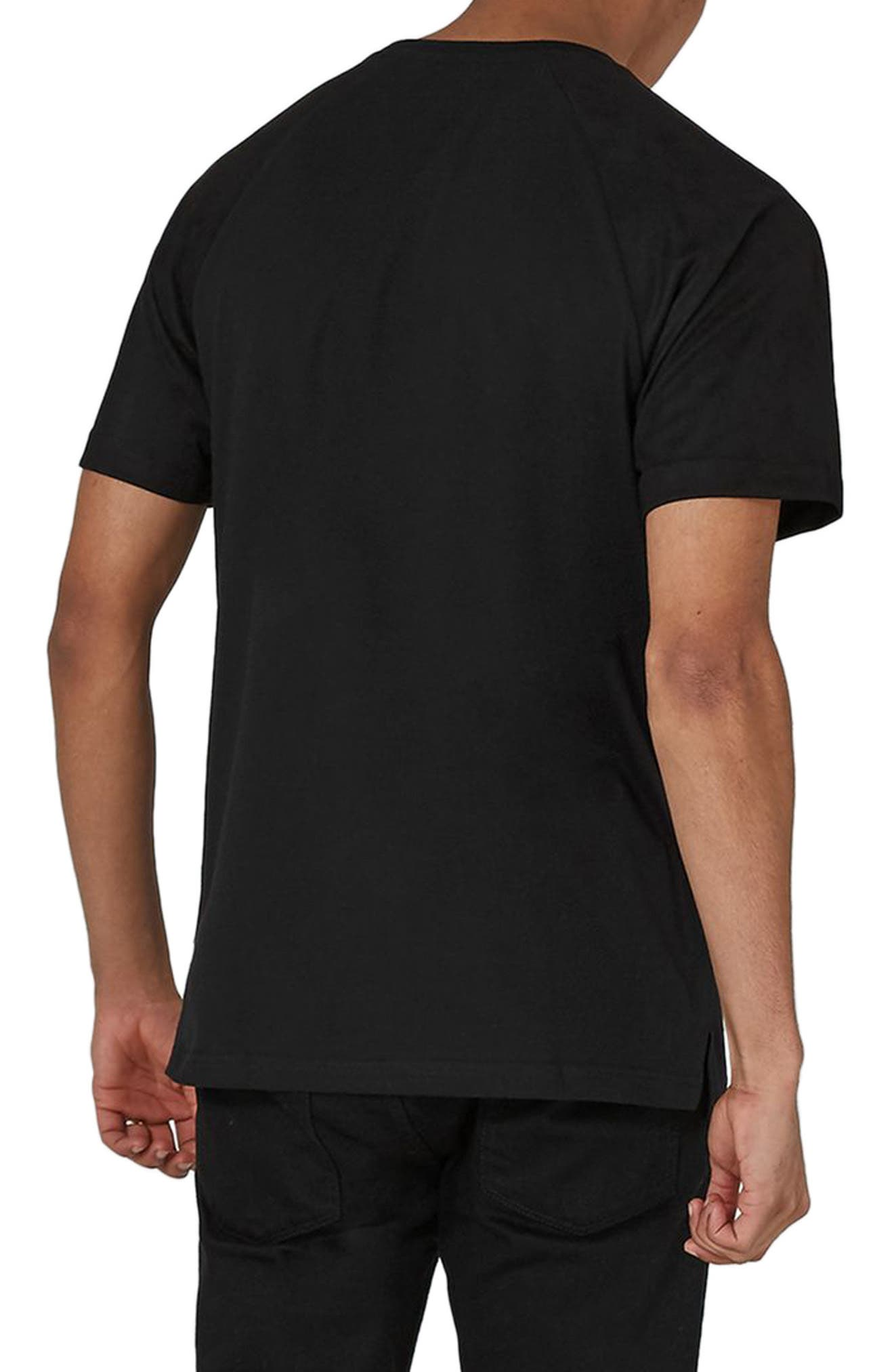 Slim Fit NICCE Logo Patch T-Shirt,                             Alternate thumbnail 2, color,                             Black