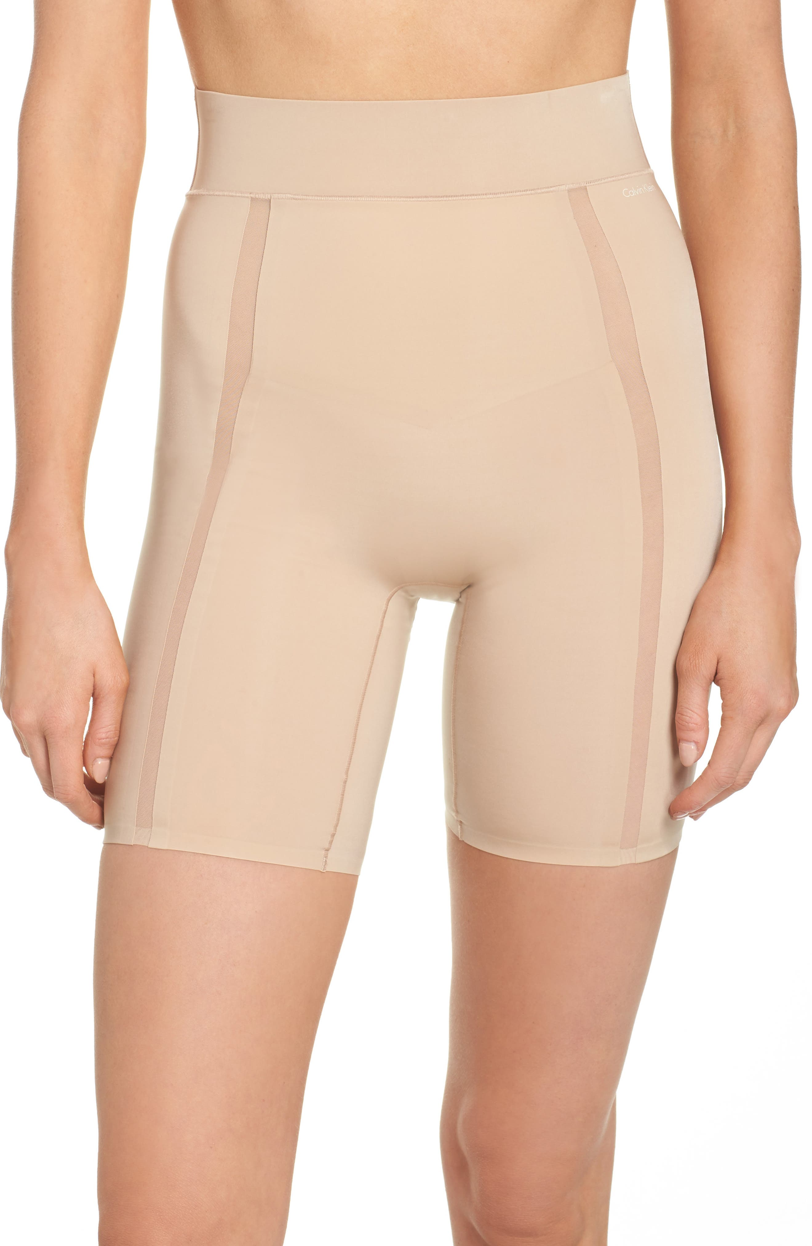 Sculpted Shapewear Thigh Shaper,                         Main,                         color, Bare
