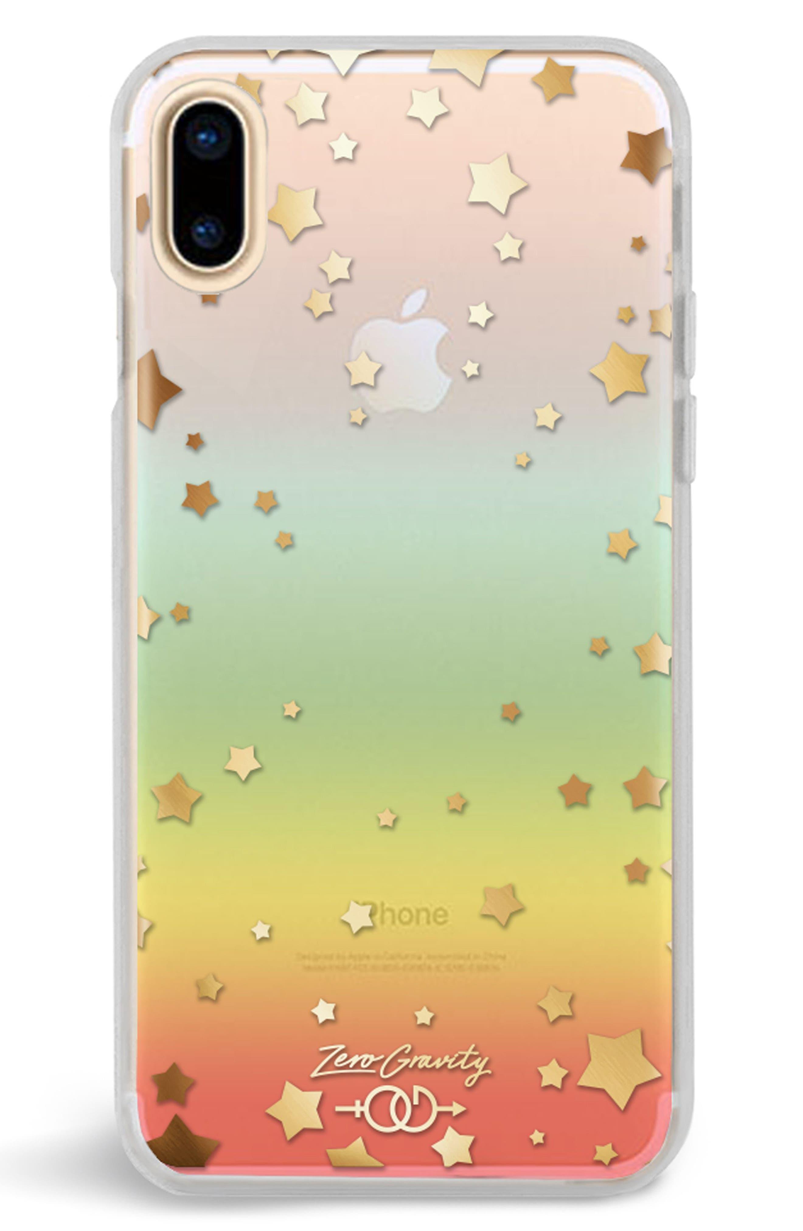 Infinity iPhone X Case,                             Main thumbnail 1, color,                             Clear Rainbow