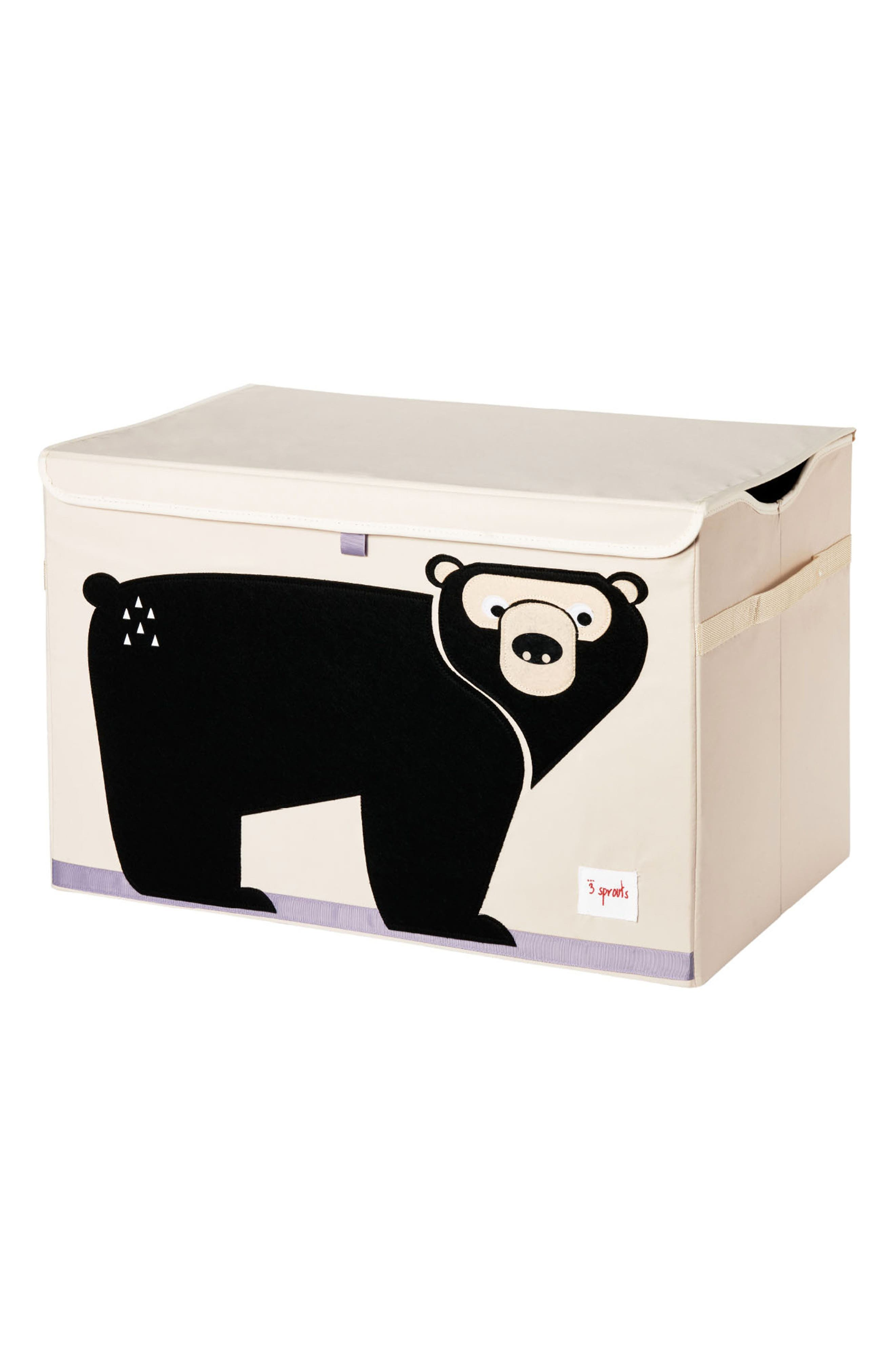 Bear Toy Chest,                         Main,                         color, Black