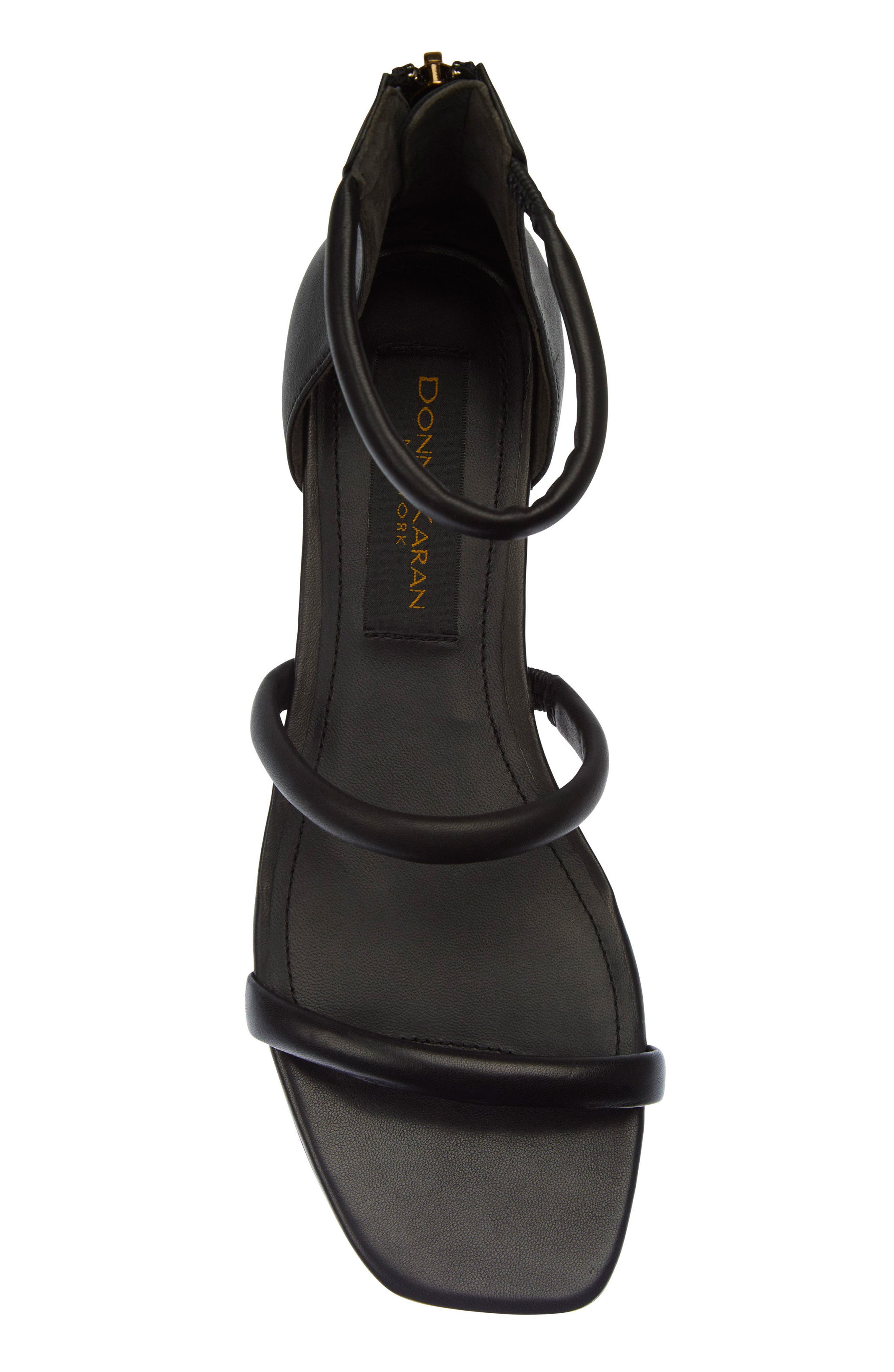 Donna Karan Galina Sandal,                             Alternate thumbnail 5, color,                             Black Leather
