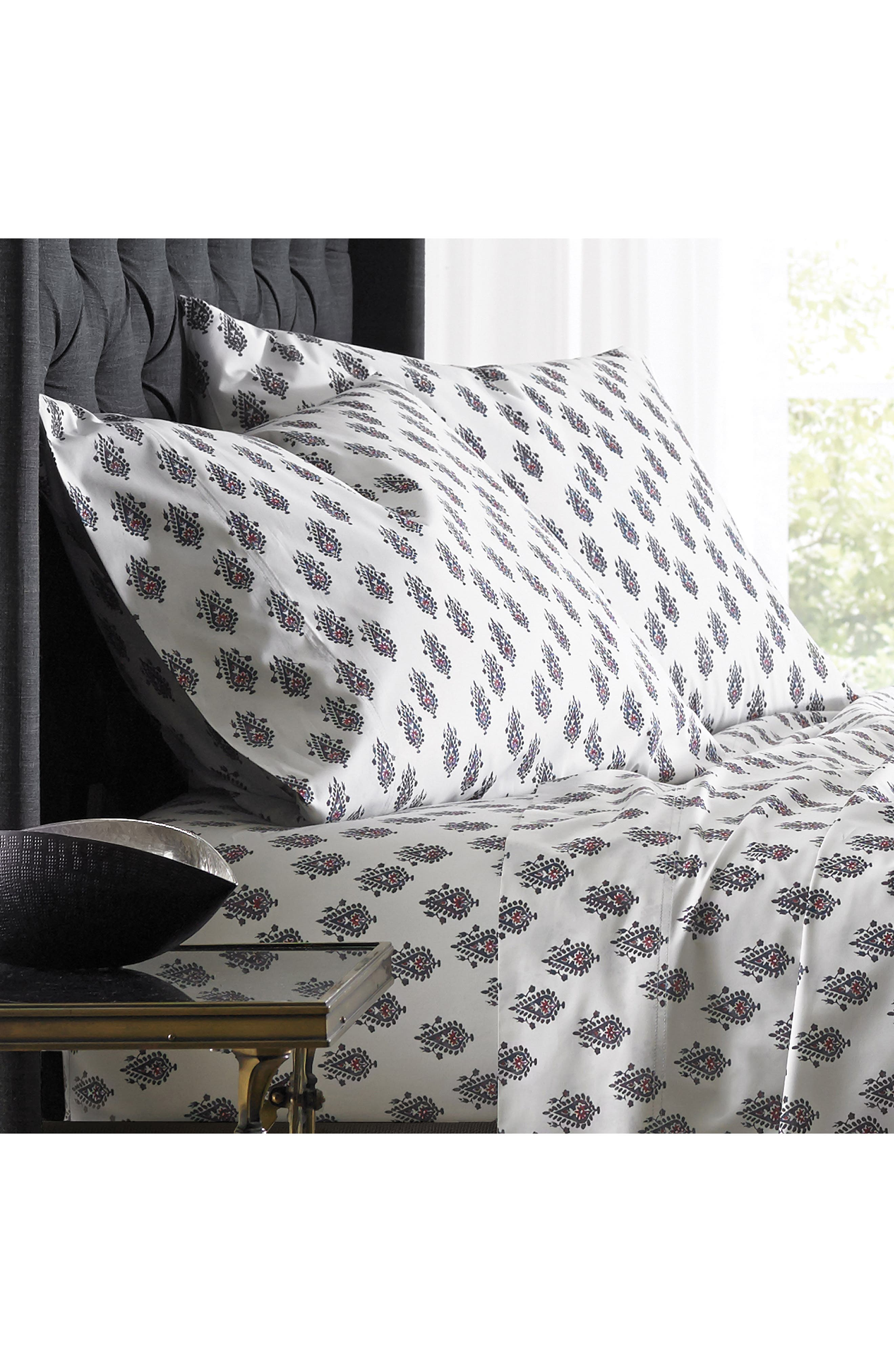Main Image - DwellStudio Flame Paisely 300 Thread Count Pair of Pillowcases