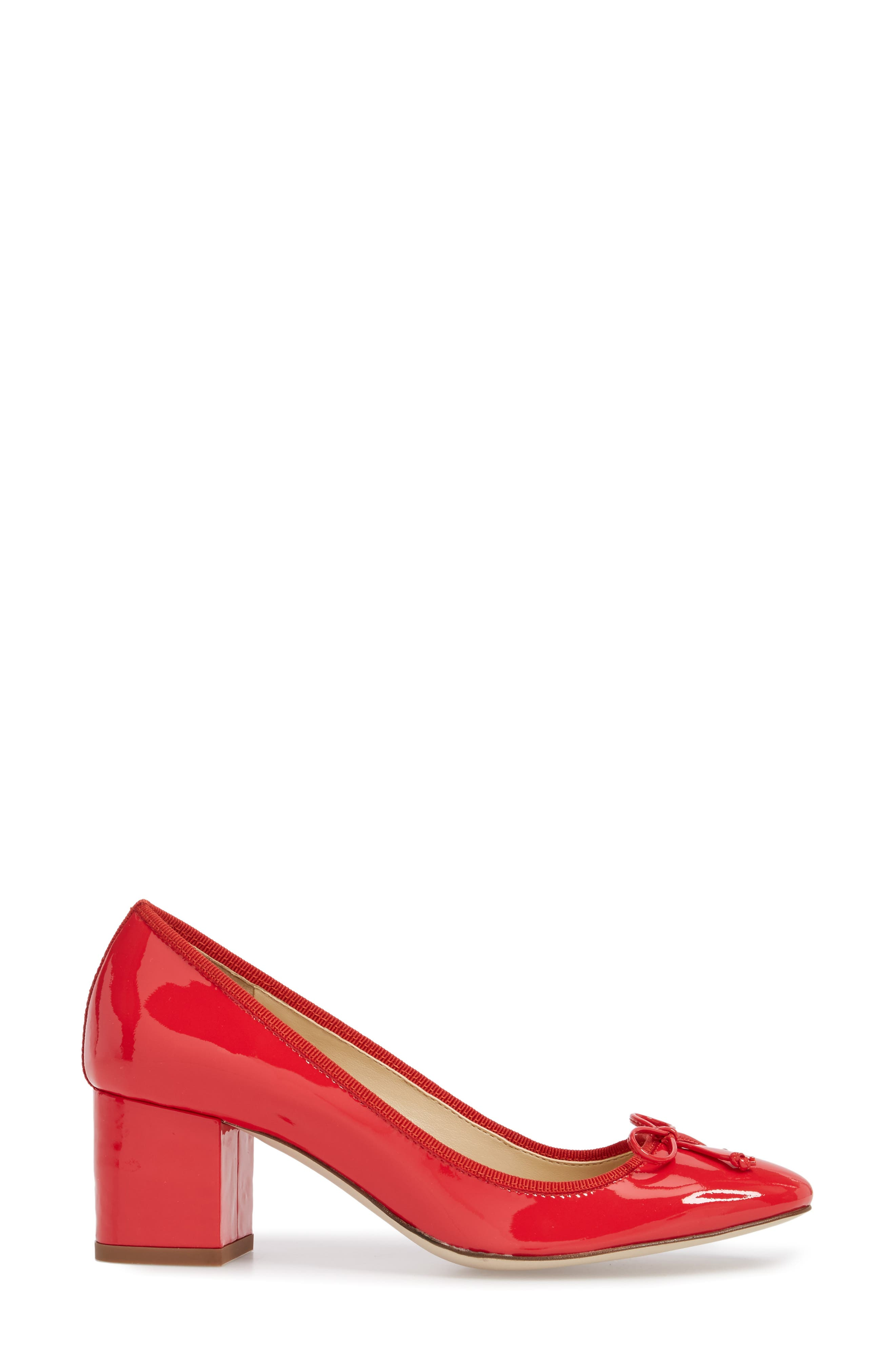 Leonard Pump,                             Alternate thumbnail 3, color,                             Red Leather
