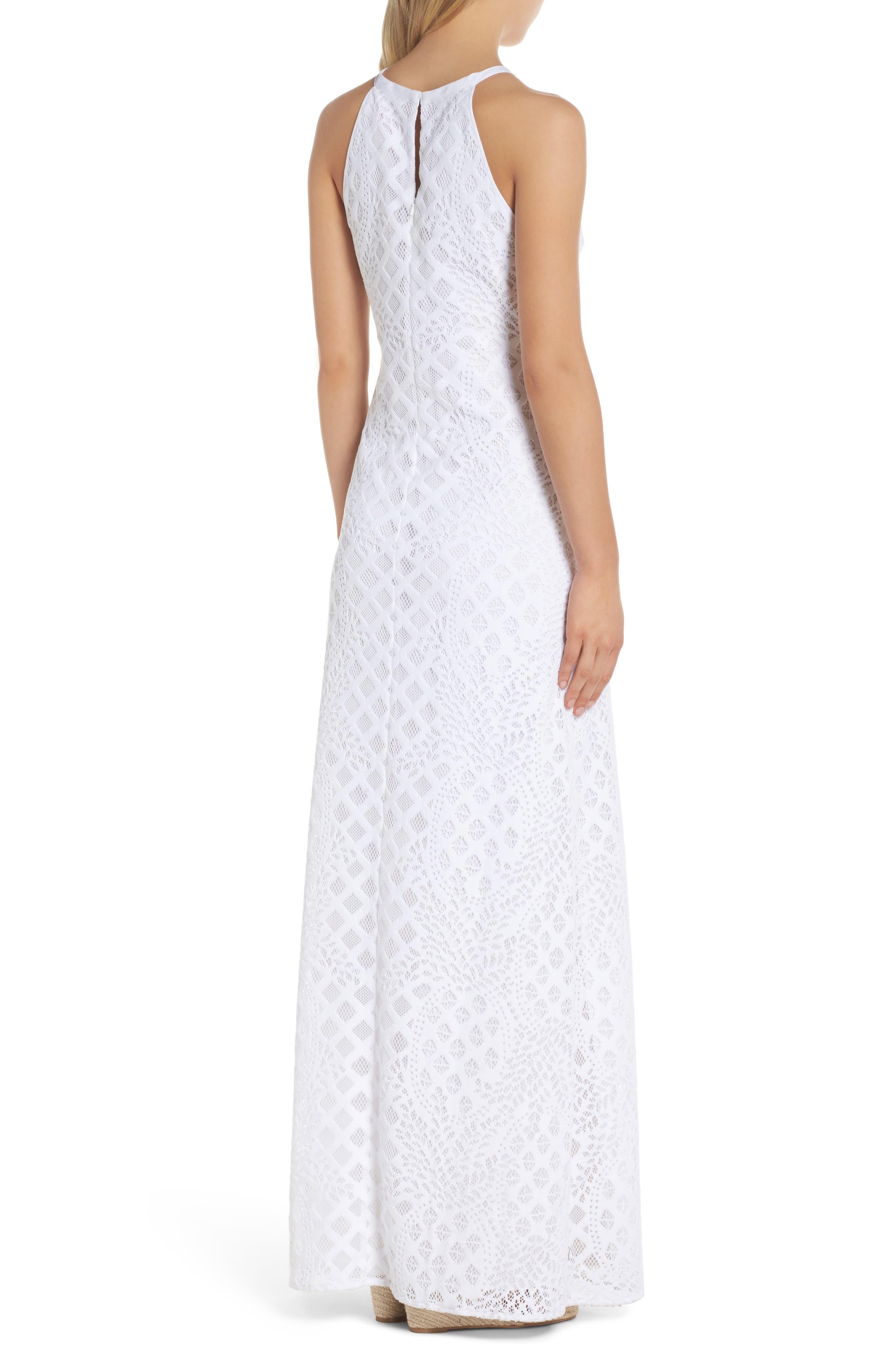 Pearl Maxi Dress,                             Alternate thumbnail 2, color,                             Resort White Pineapple Lace