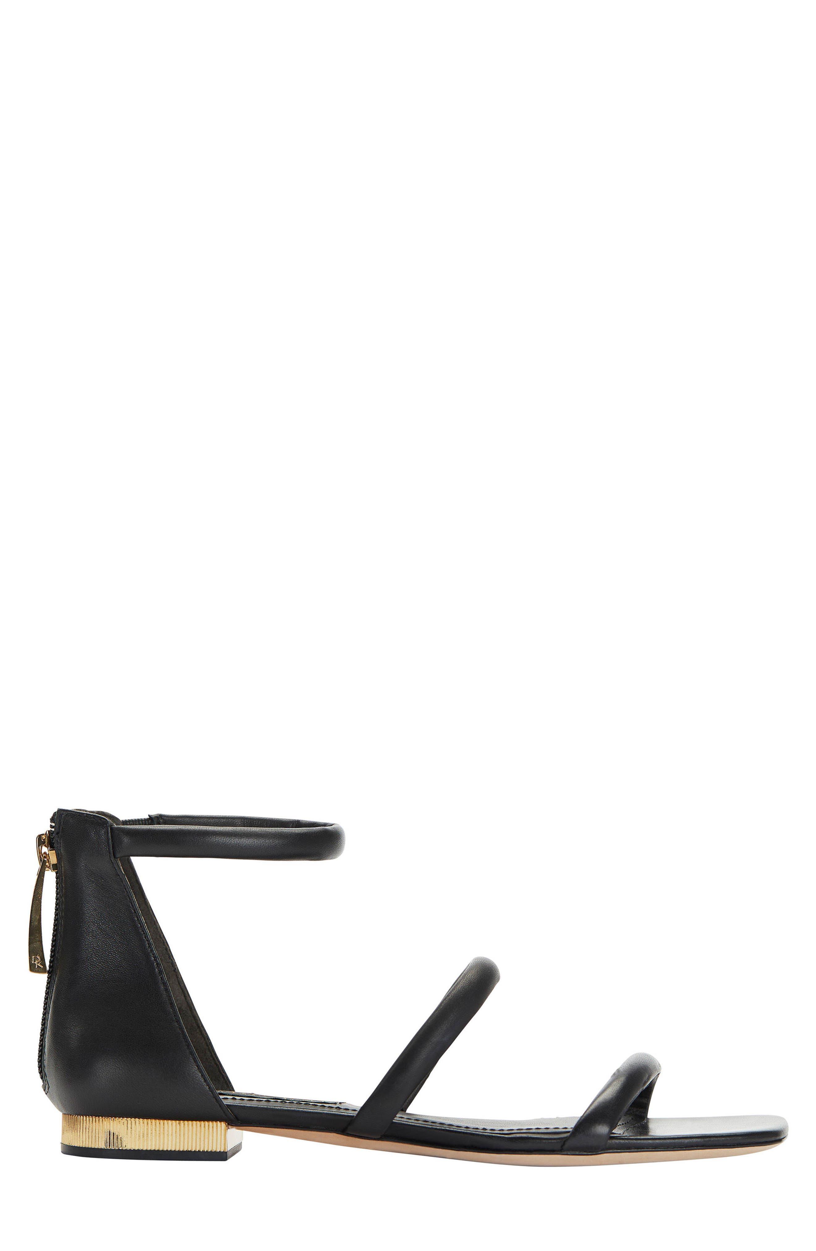 Donna Karan Galina Sandal,                             Alternate thumbnail 3, color,                             Black Leather