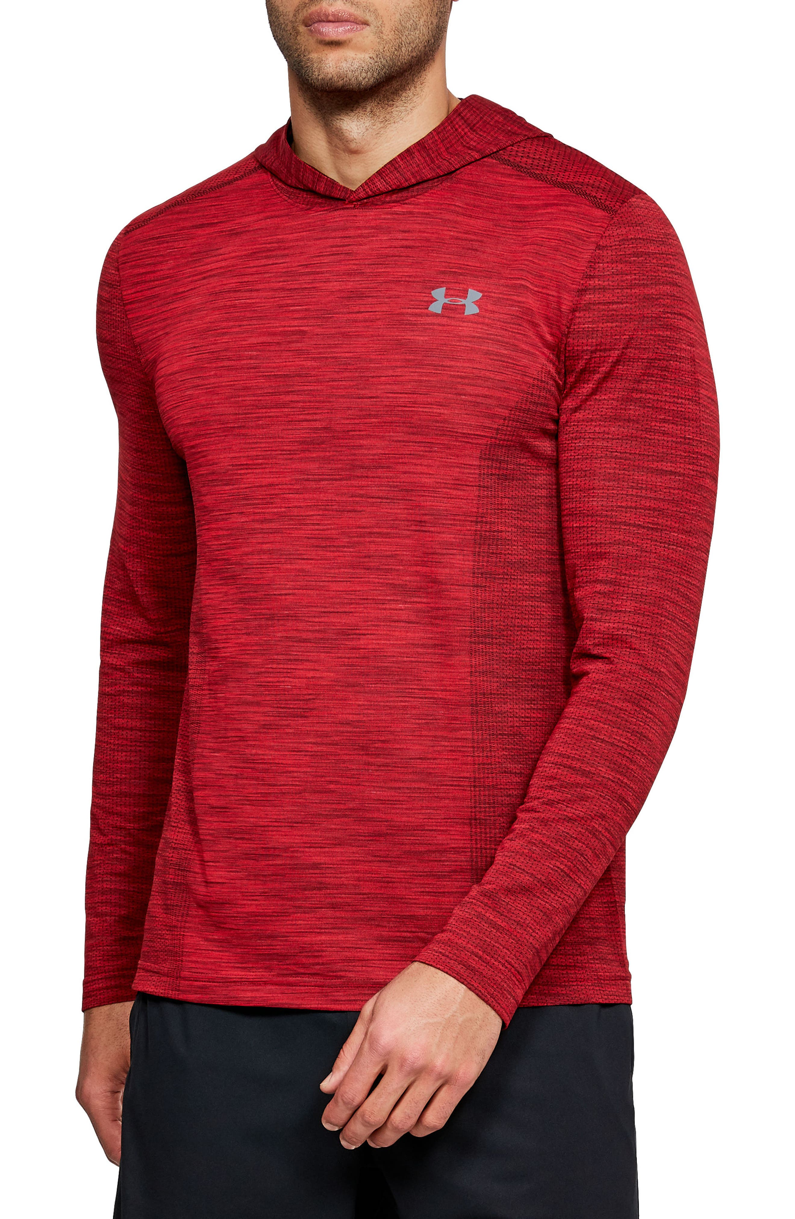Main Image - Under Armour Threadbone Fitted Seamless Hoodie