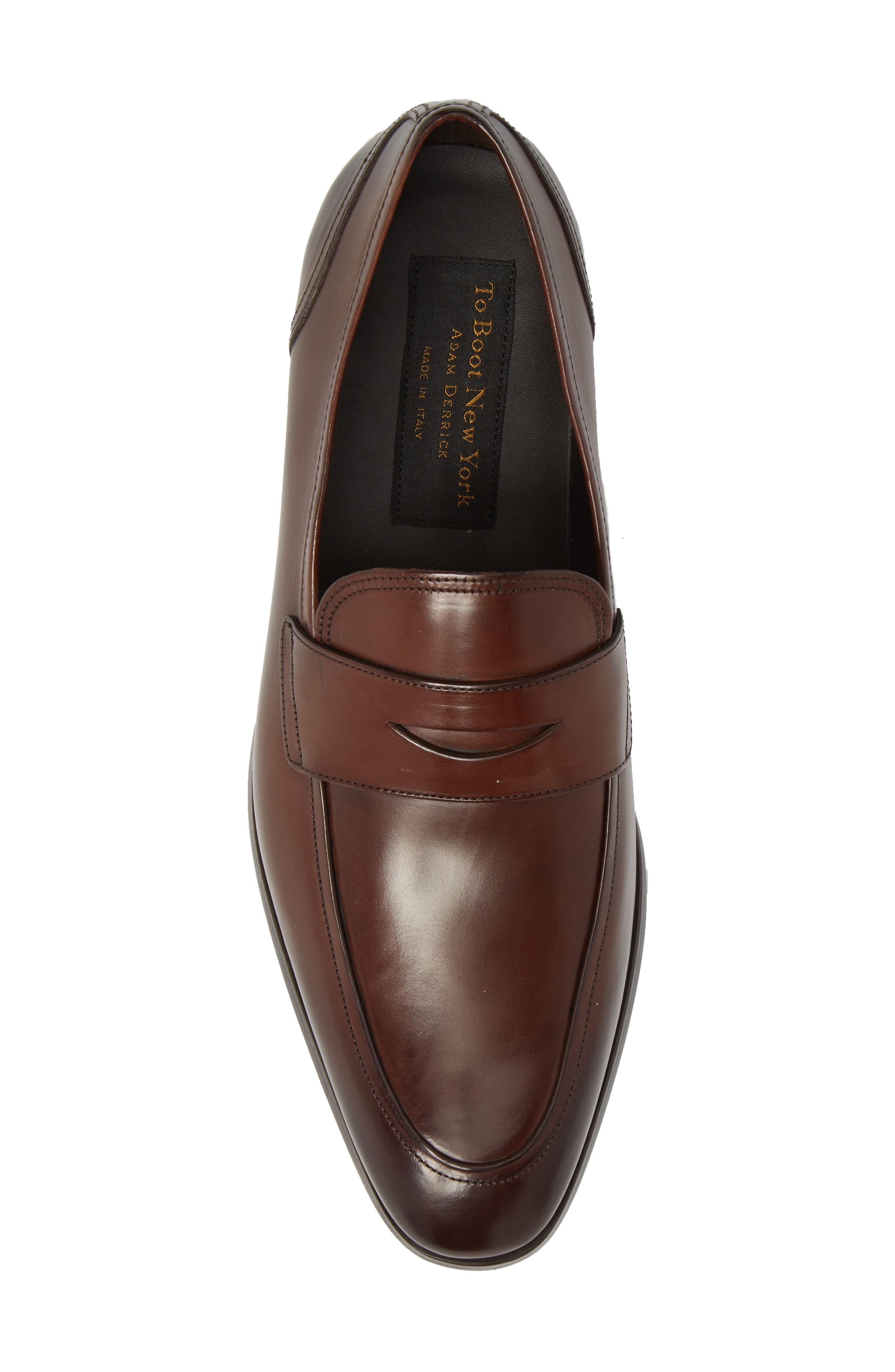 Deane Penny Loafer,                             Alternate thumbnail 5, color,                             Marrone Leather