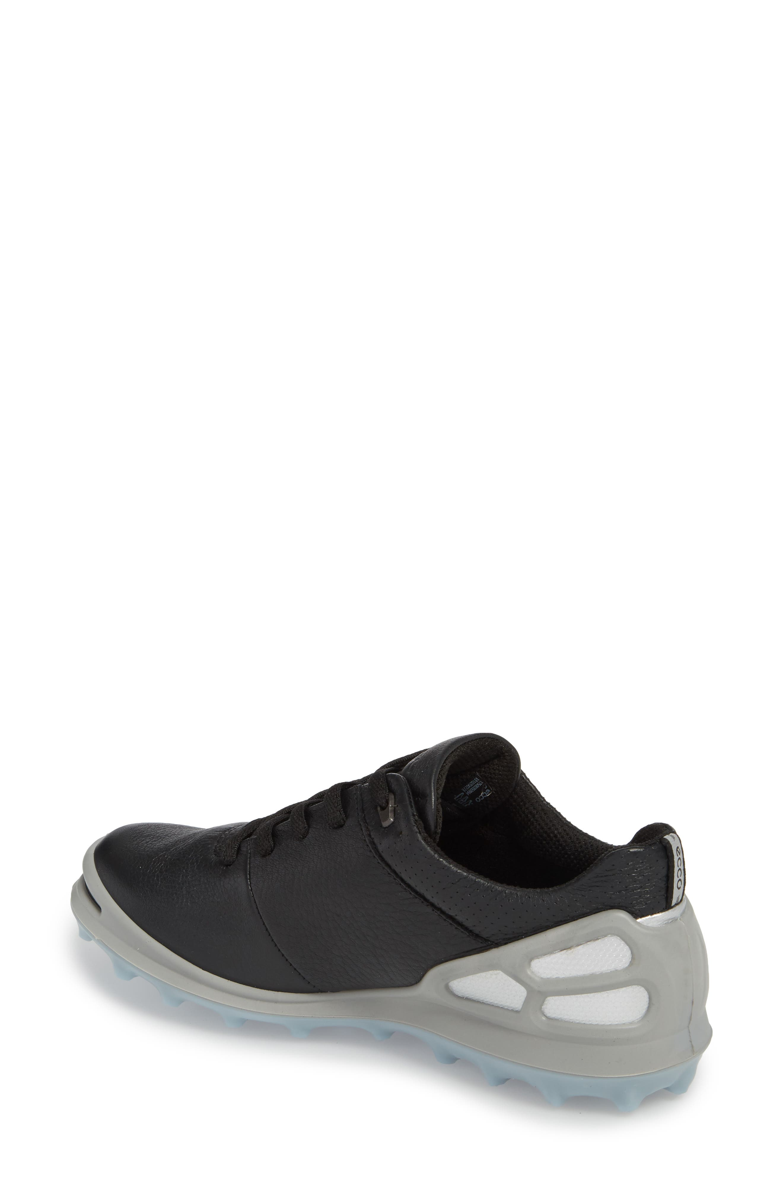 Golf Cage Pro Gore-Tex<sup>®</sup> Waterproof Shoe,                             Alternate thumbnail 2, color,                             Black Leather
