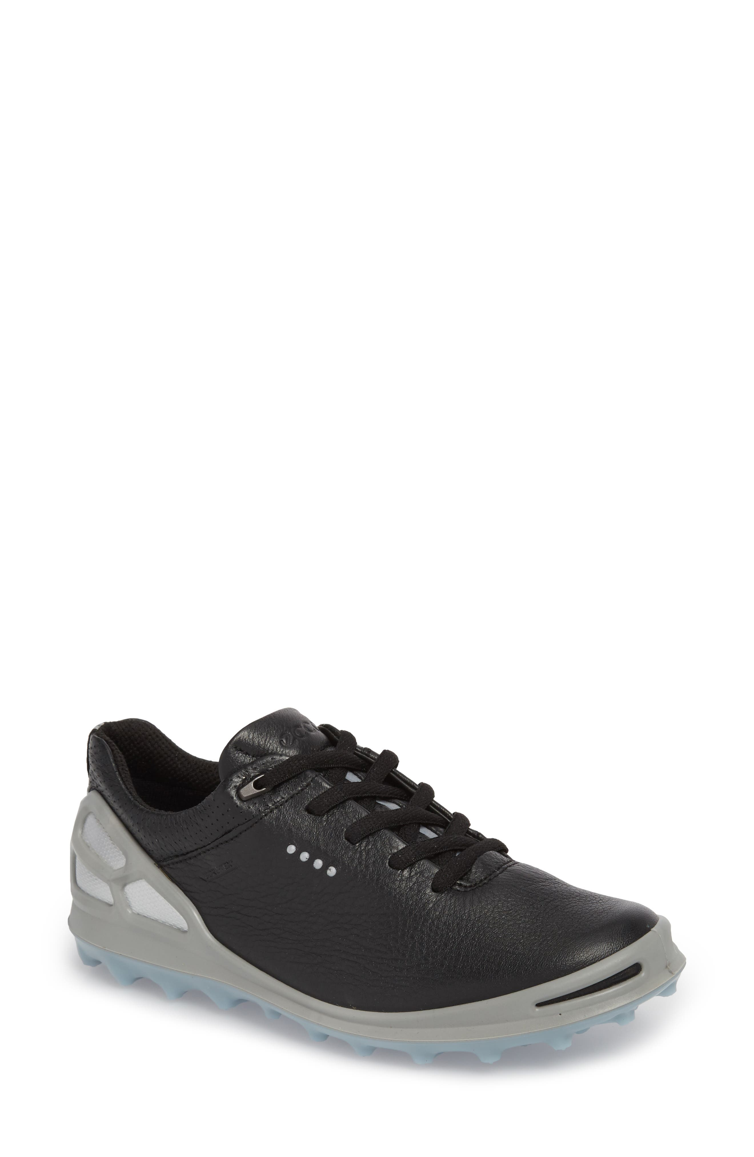 Golf Cage Pro Gore-Tex<sup>®</sup> Waterproof Shoe,                             Main thumbnail 1, color,                             Black Leather