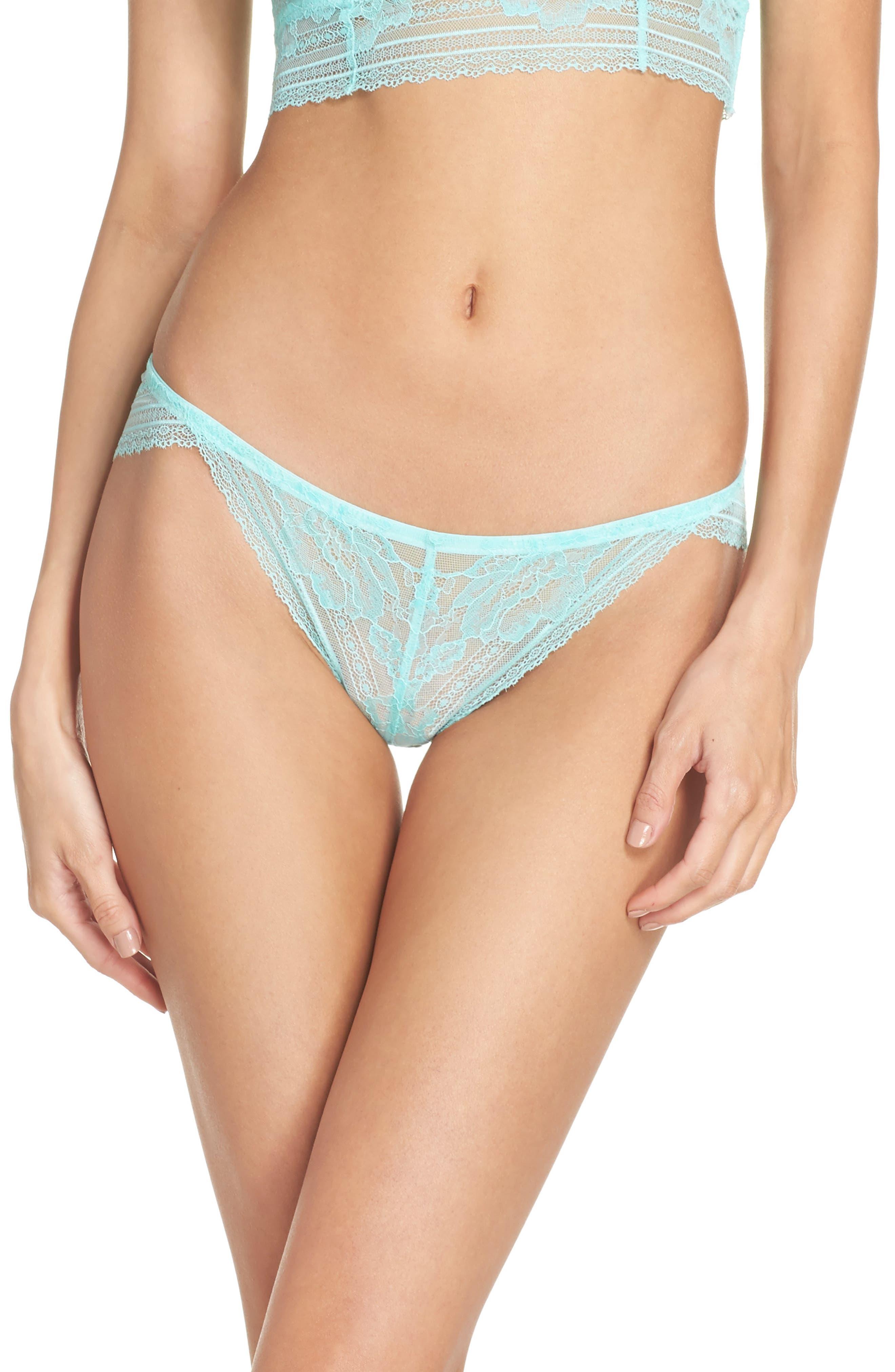 Intimately FP Sorento Lace Bikini,                         Main,                         color, Mint