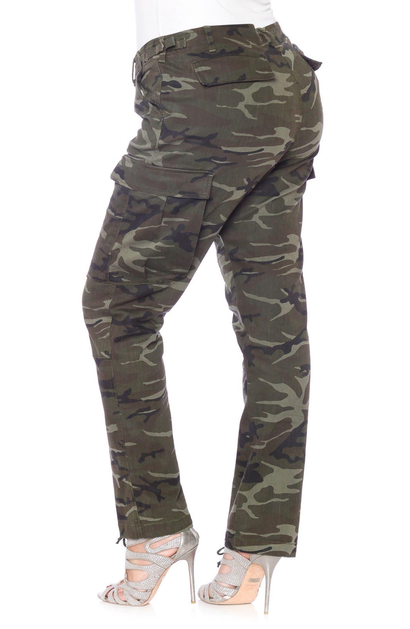 Camo Twill Cargo Pants,                             Alternate thumbnail 3, color,                             Olive Camo