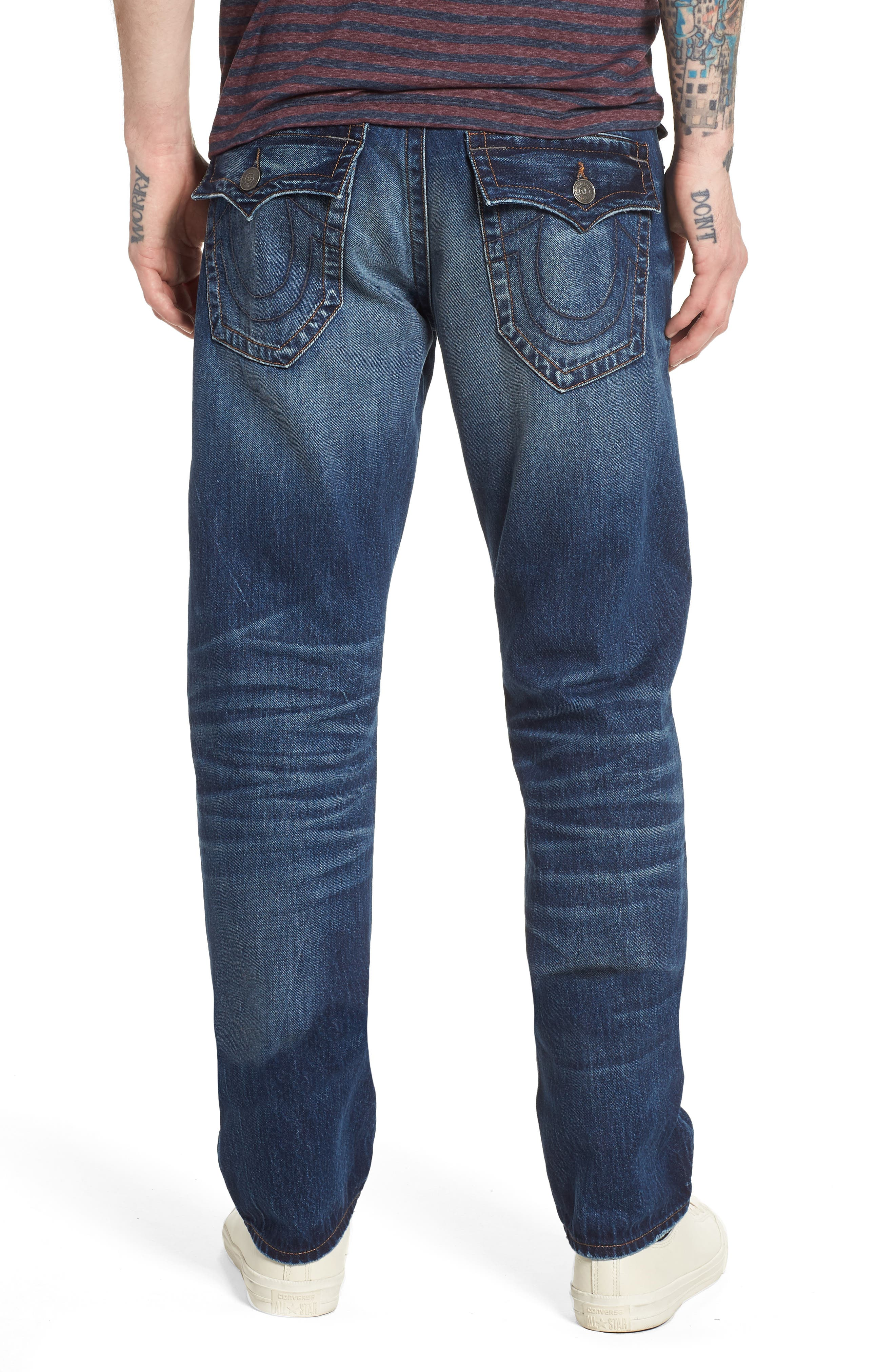 Alternate Image 2  - True Religion Brand Jeans Geno Straight Leg Jeans (Dark After Hours)