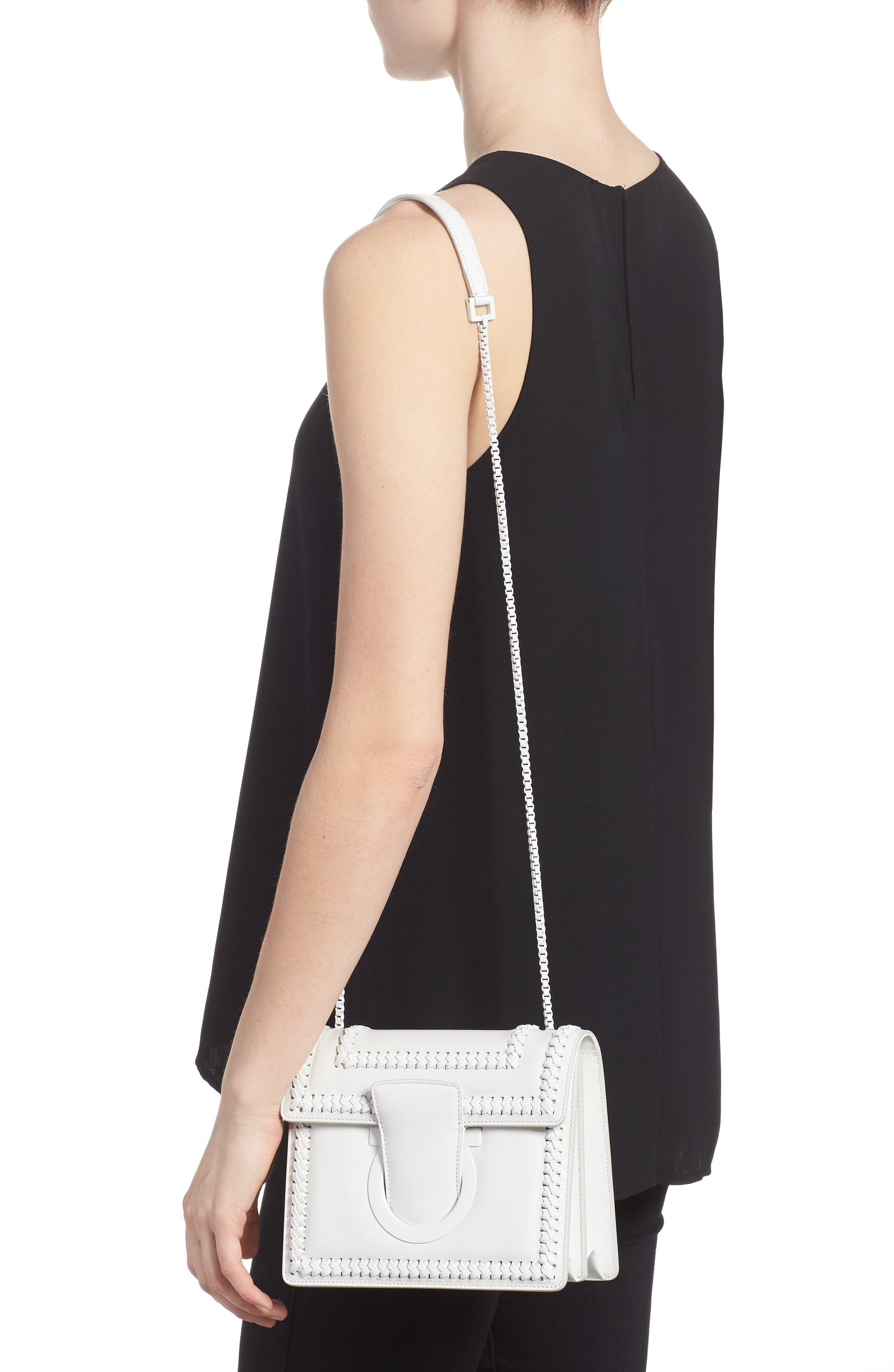 Thalia Gancio Leather Shoulder Bag,                             Alternate thumbnail 2, color,                             New Bianco Ottico