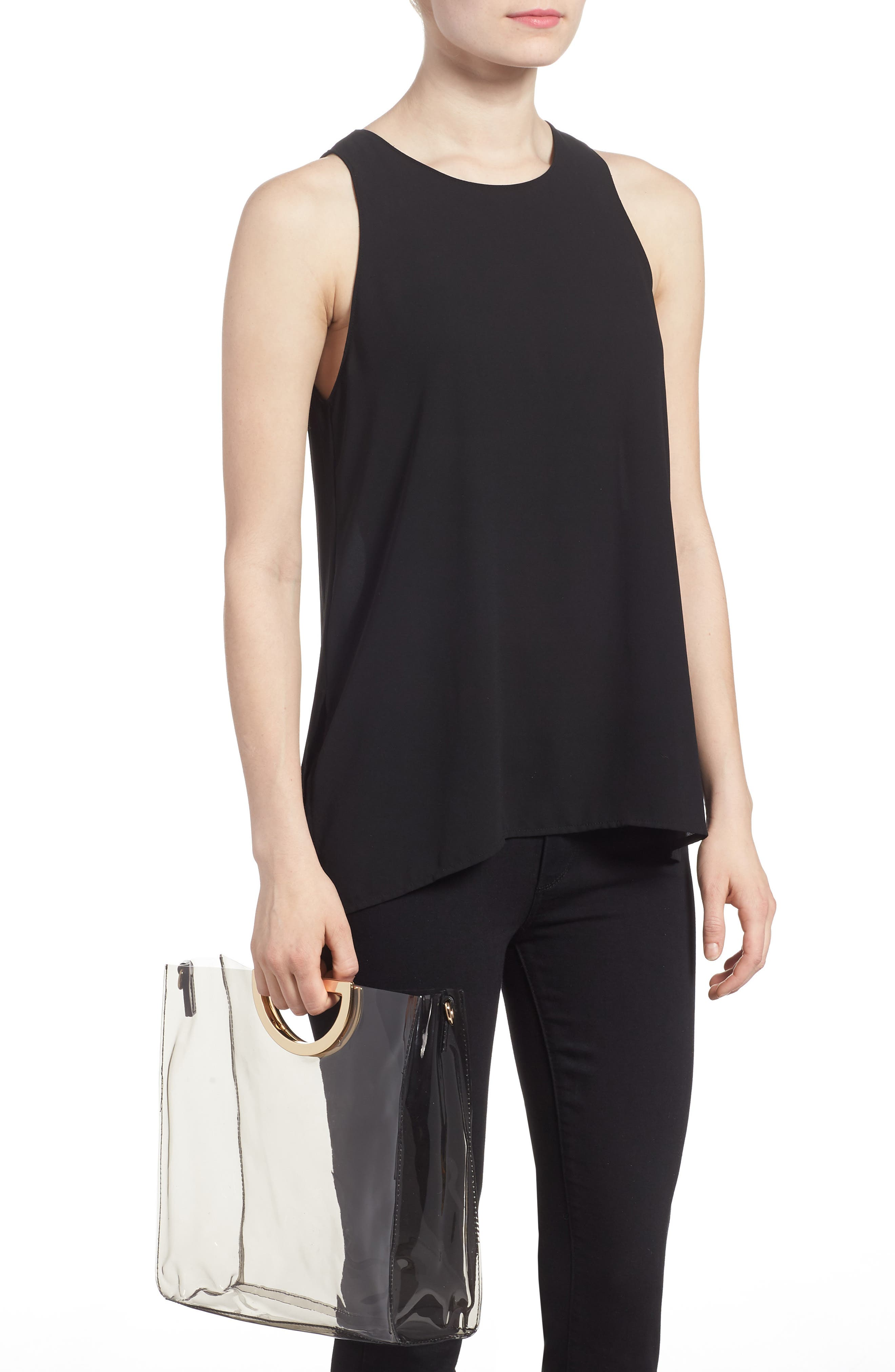 Alternate Image 2  - BP. Mini Translucent Metal Handle Bag