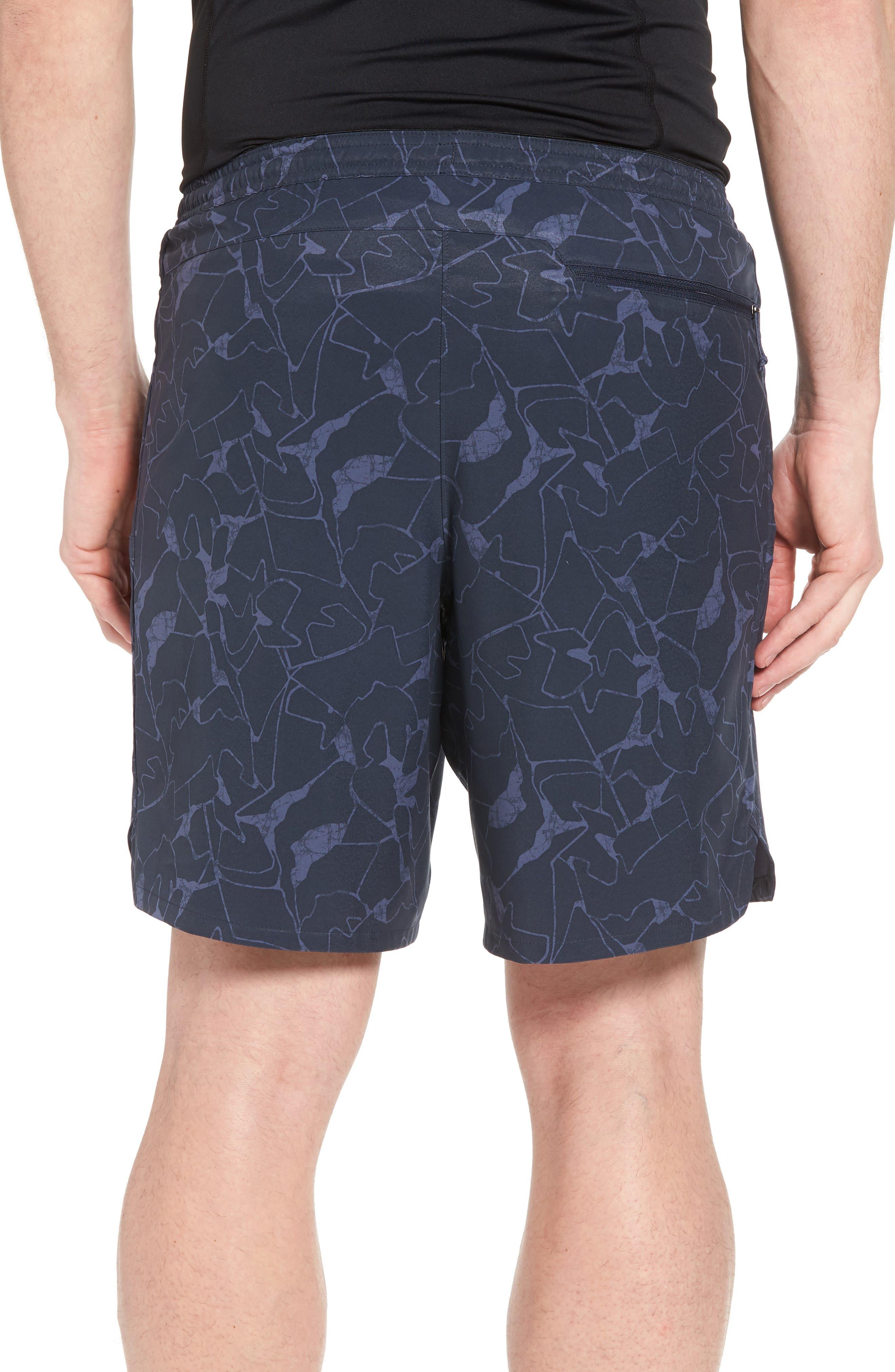 Nine Trails Hiking Shorts,                             Alternate thumbnail 2, color,                             Rock Jigsaw/ Smolder Blue