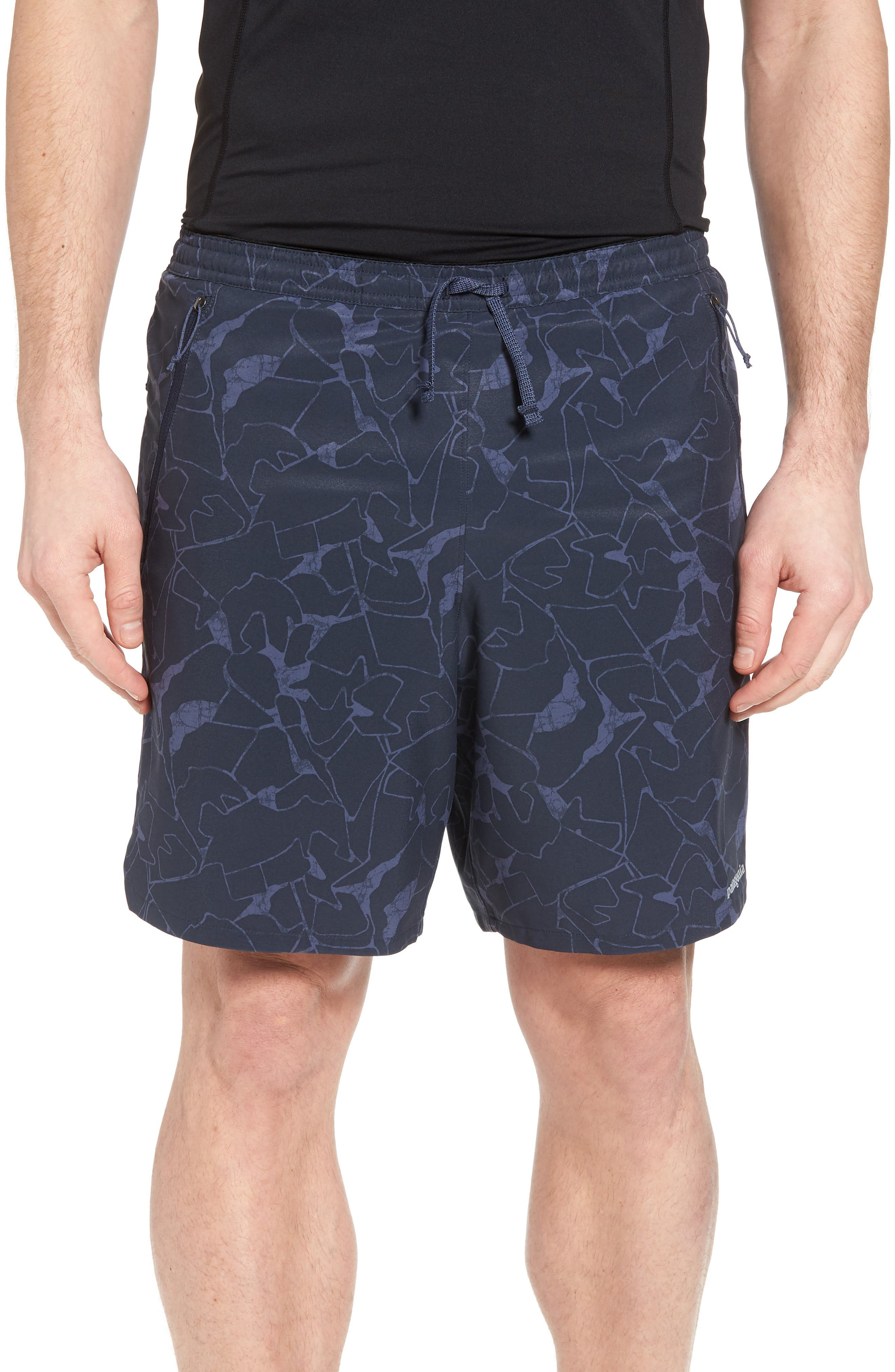 Nine Trails Hiking Shorts,                         Main,                         color, Rock Jigsaw/ Smolder Blue