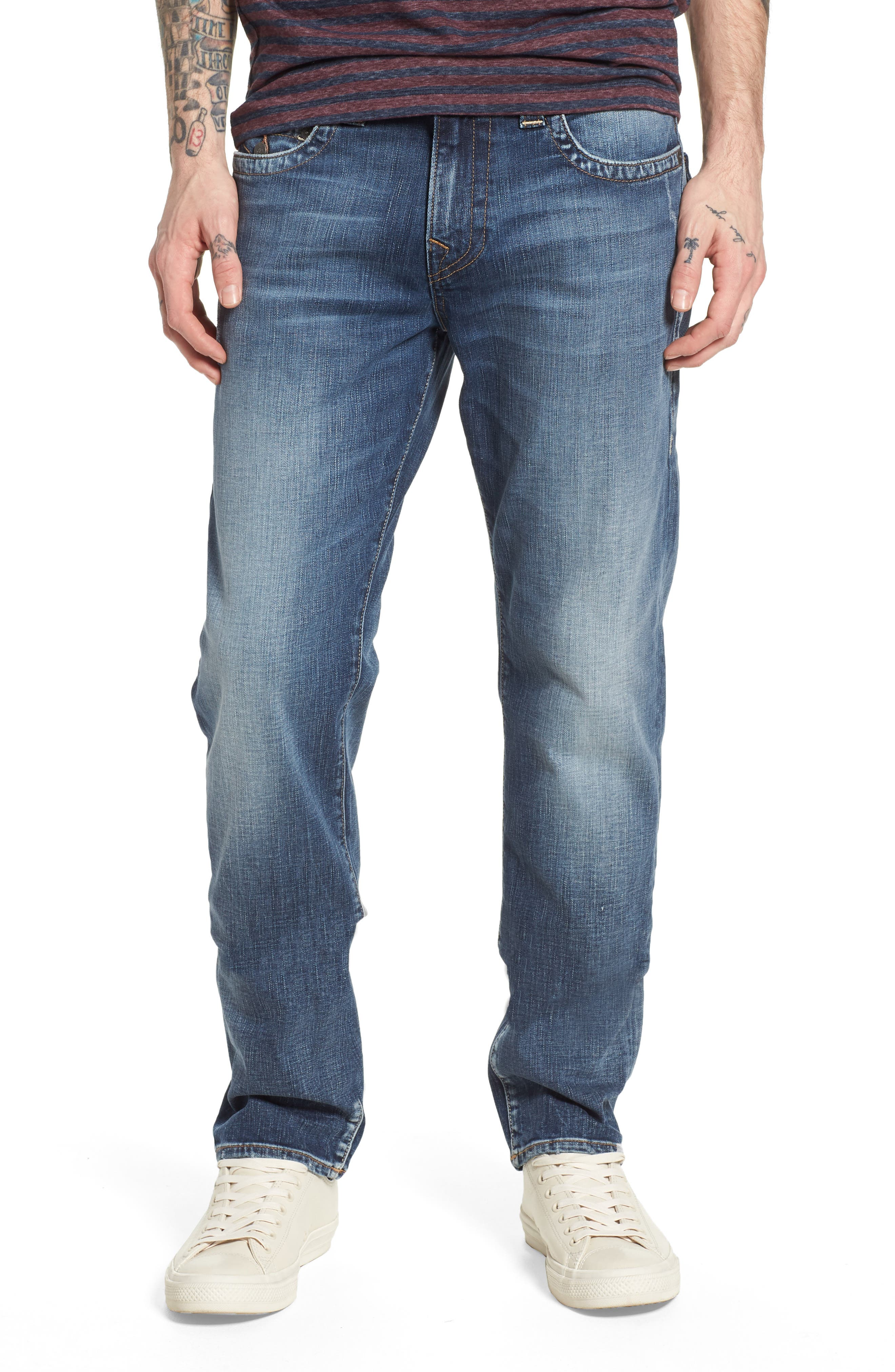Geno Straight Leg Jeans,                             Main thumbnail 1, color,                             Morning Haze