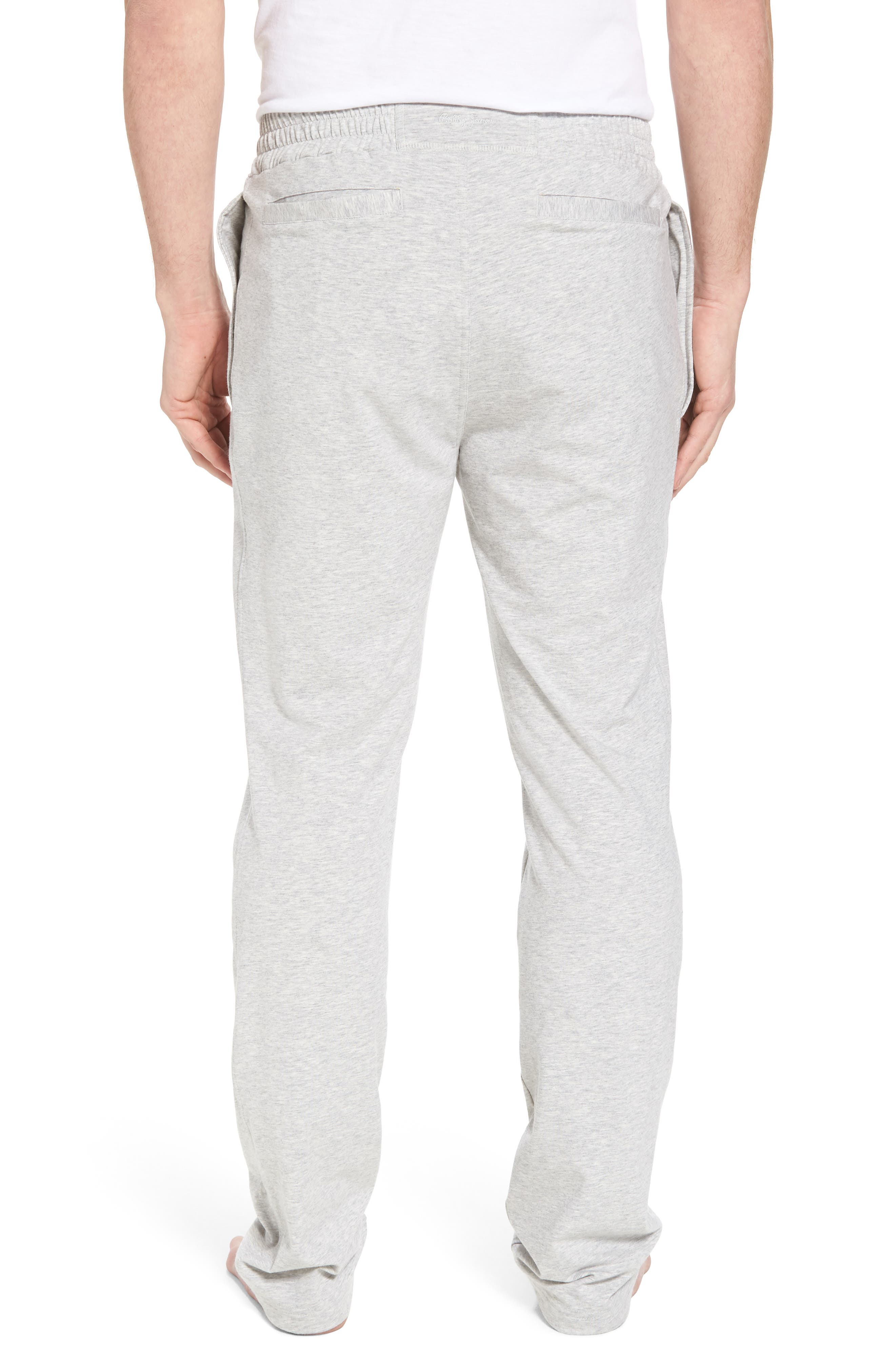 Classic Liquid Cotton Stretch Pants,                             Alternate thumbnail 2, color,                             Heather Grey