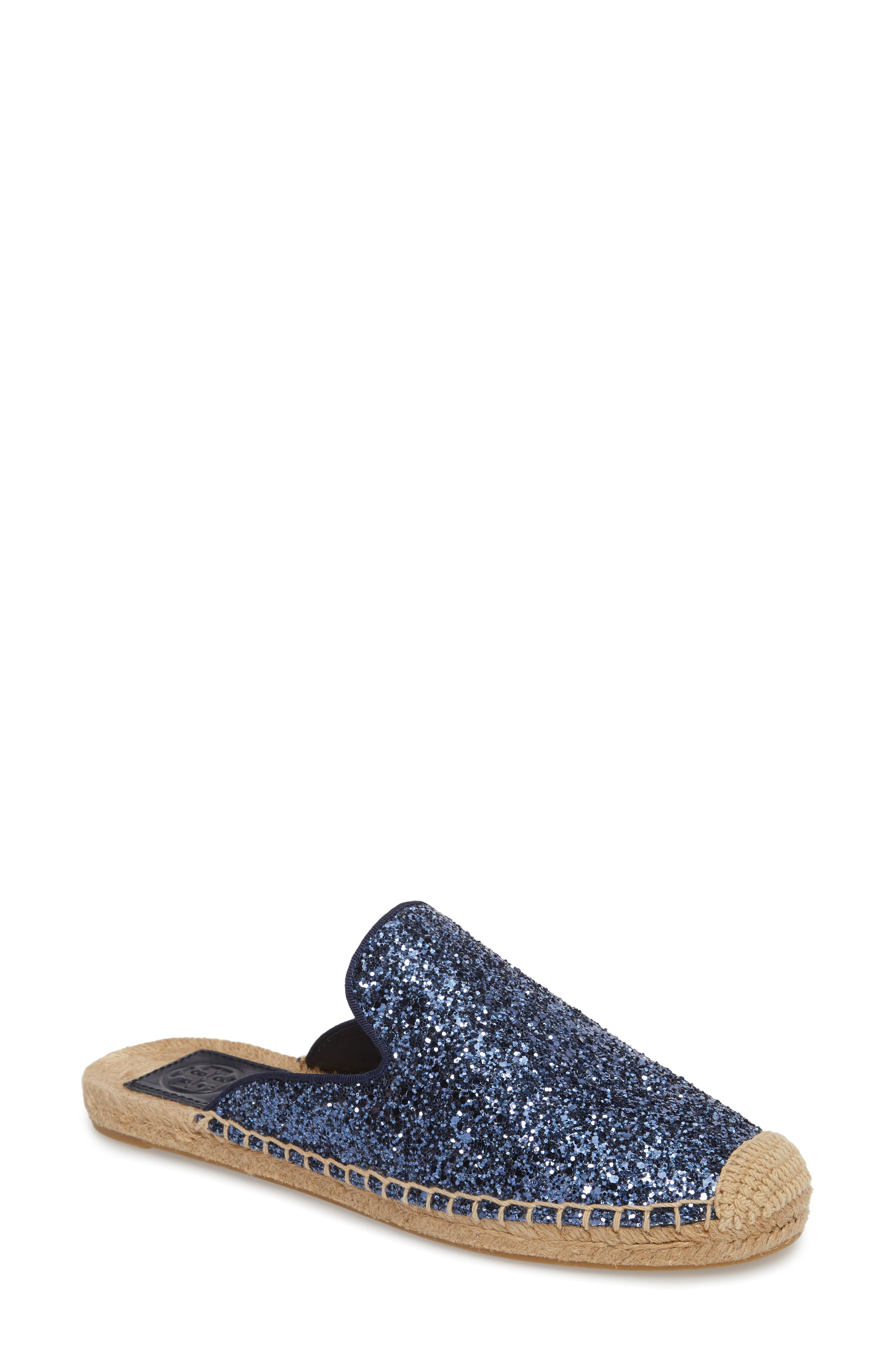 Max Glitter Espadrille Mule,                             Main thumbnail 1, color,                             Perfect Navy