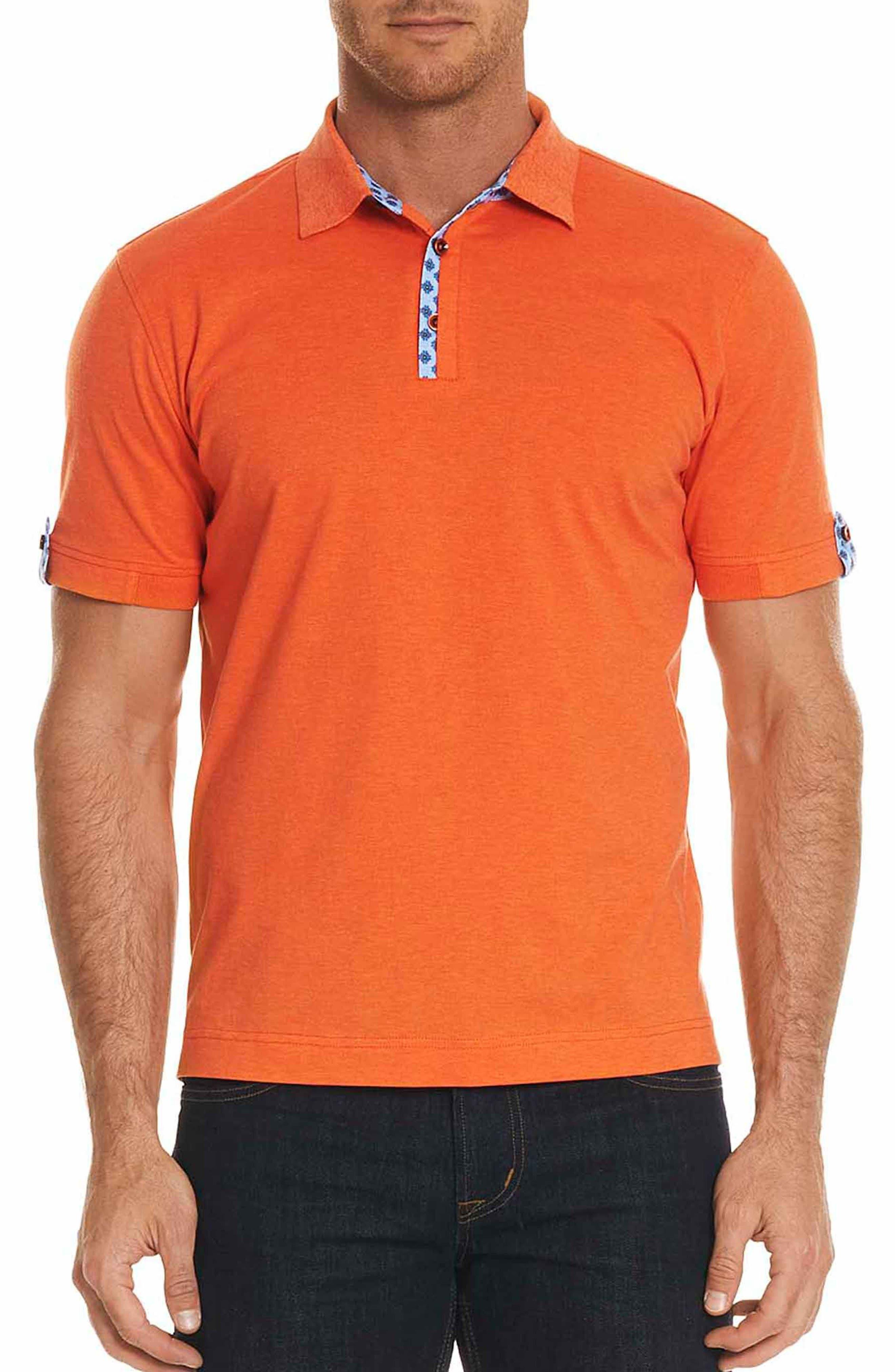 Diego Classic Fit Polo,                         Main,                         color, Orange