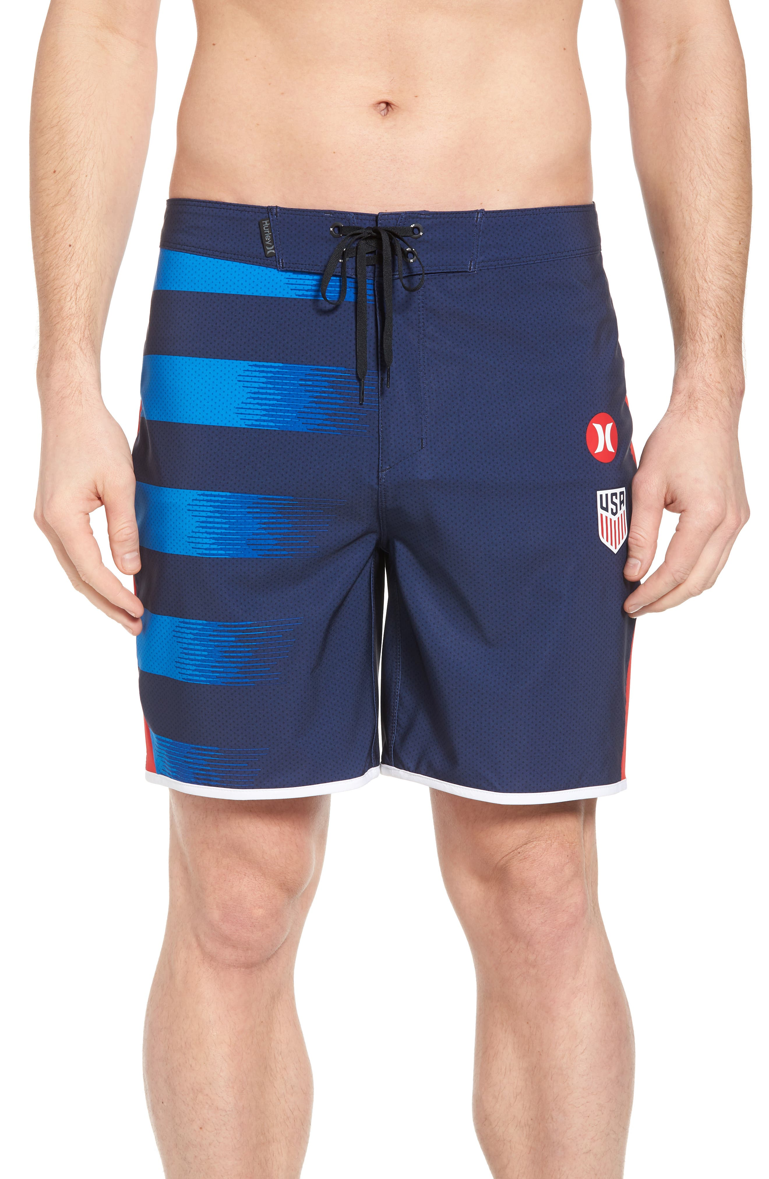 Phantom USA Away National Team Swim Shorts,                         Main,                         color, Midnight Navy