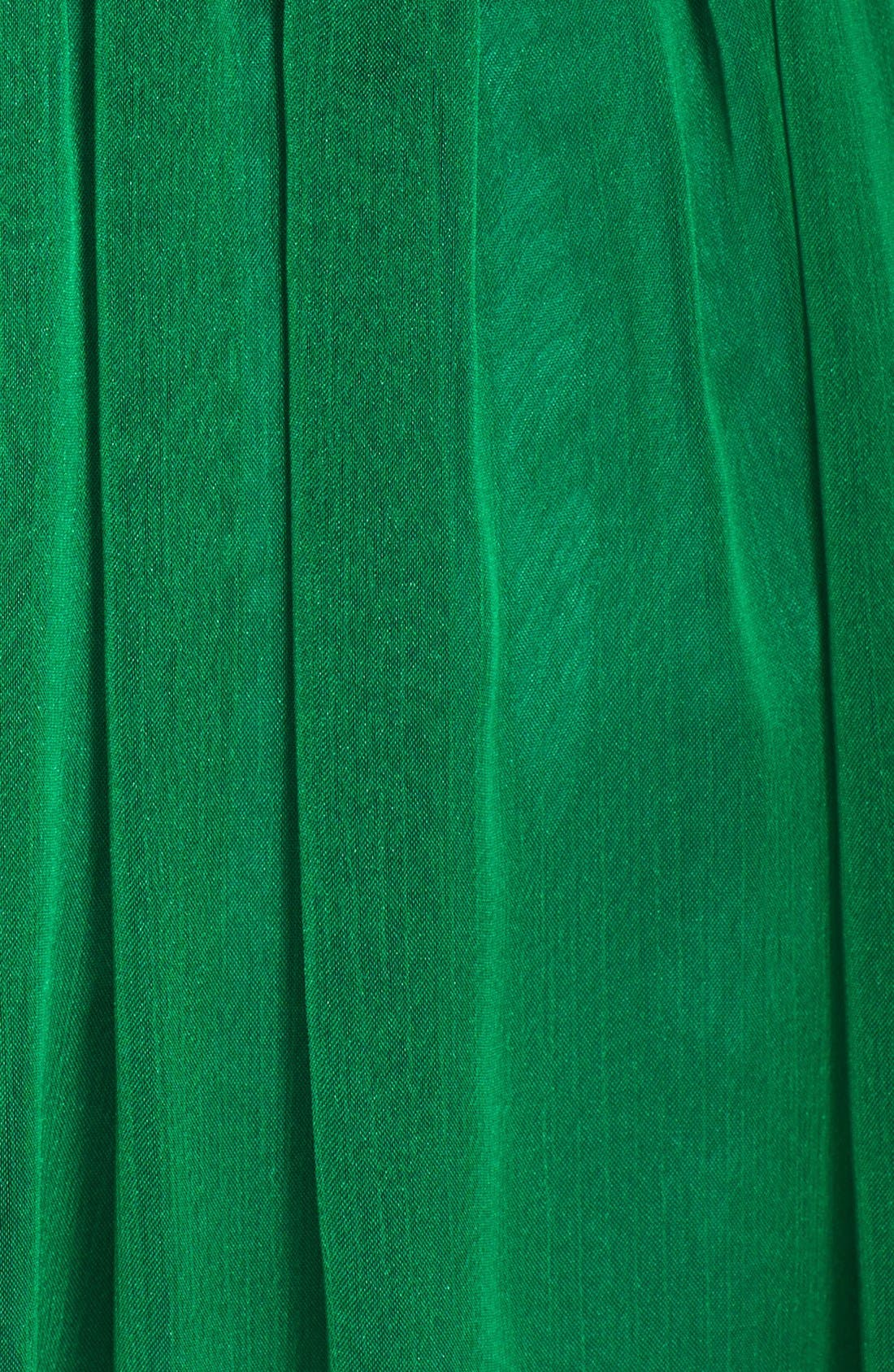 Alternate Image 3  - Monique Lhuillier Bridesmaids Shirred Chiffon Gown