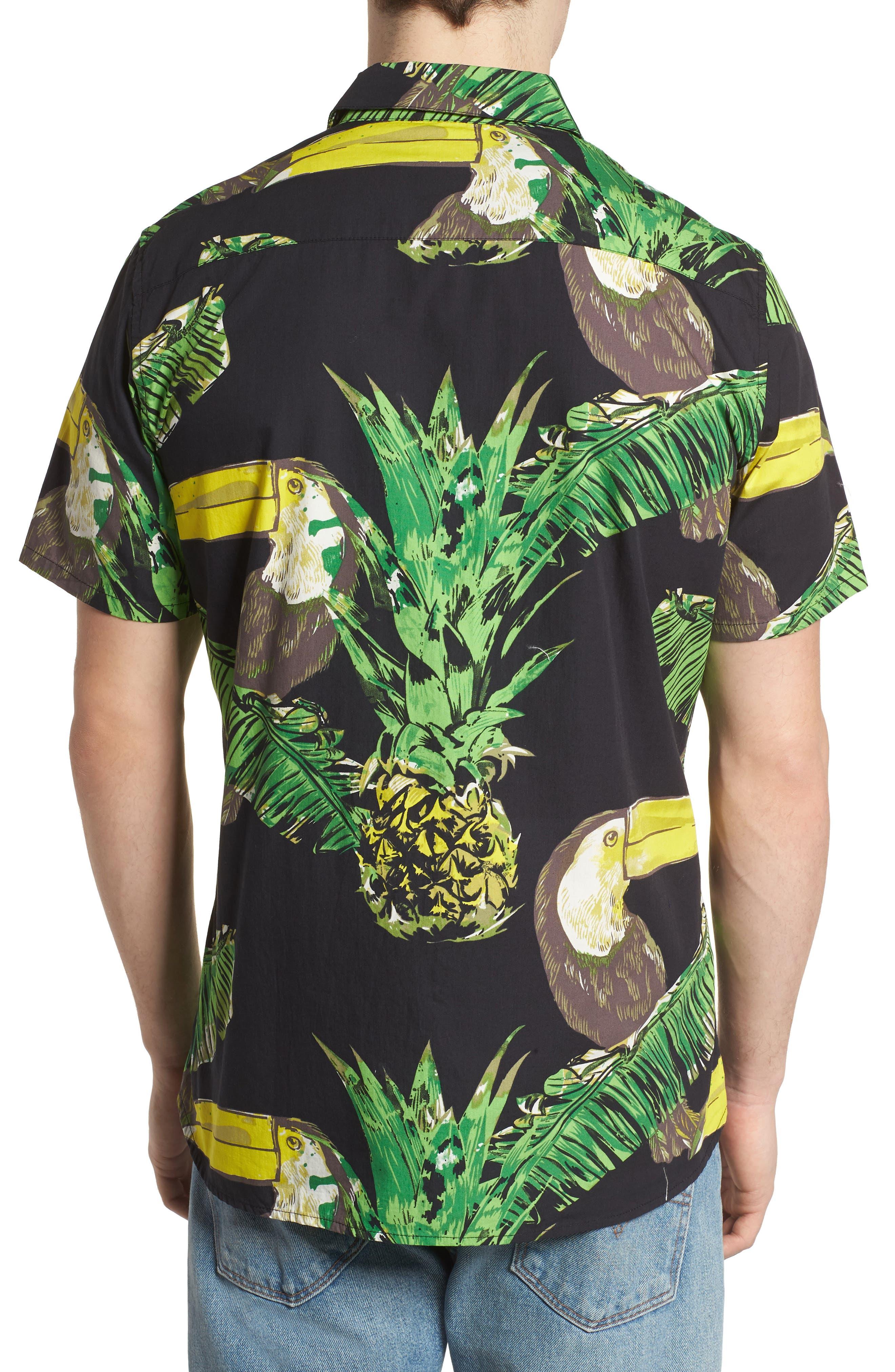 Toucan Shirt,                             Alternate thumbnail 3, color,                             Black