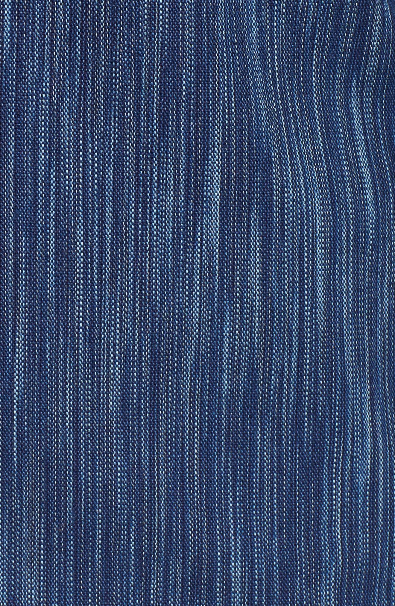 Indigo Tie Dye Rain Weave Shirt,                             Alternate thumbnail 5, color,                             Blue