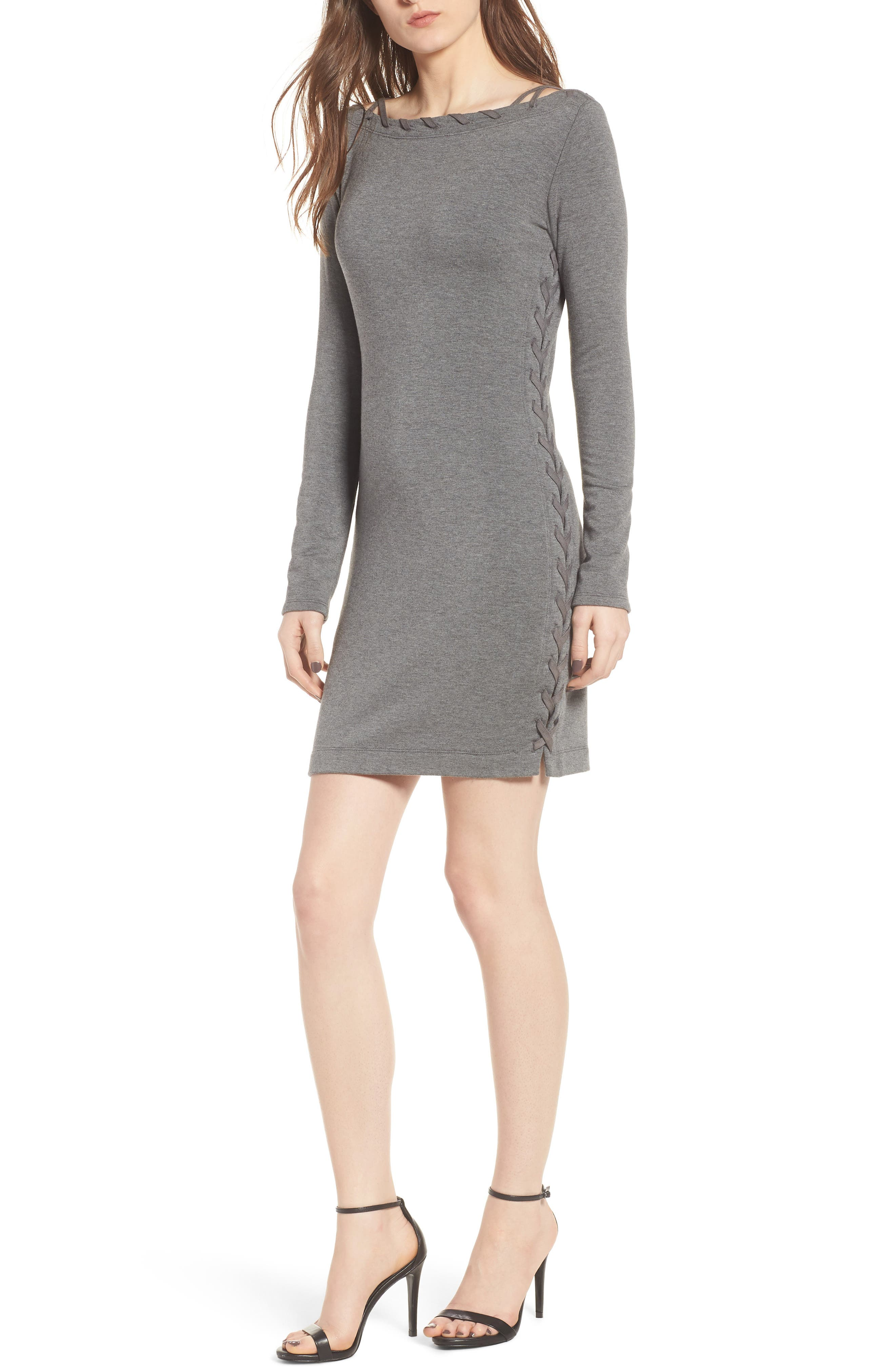 Lazy Day Minidress,                         Main,                         color, Marengo