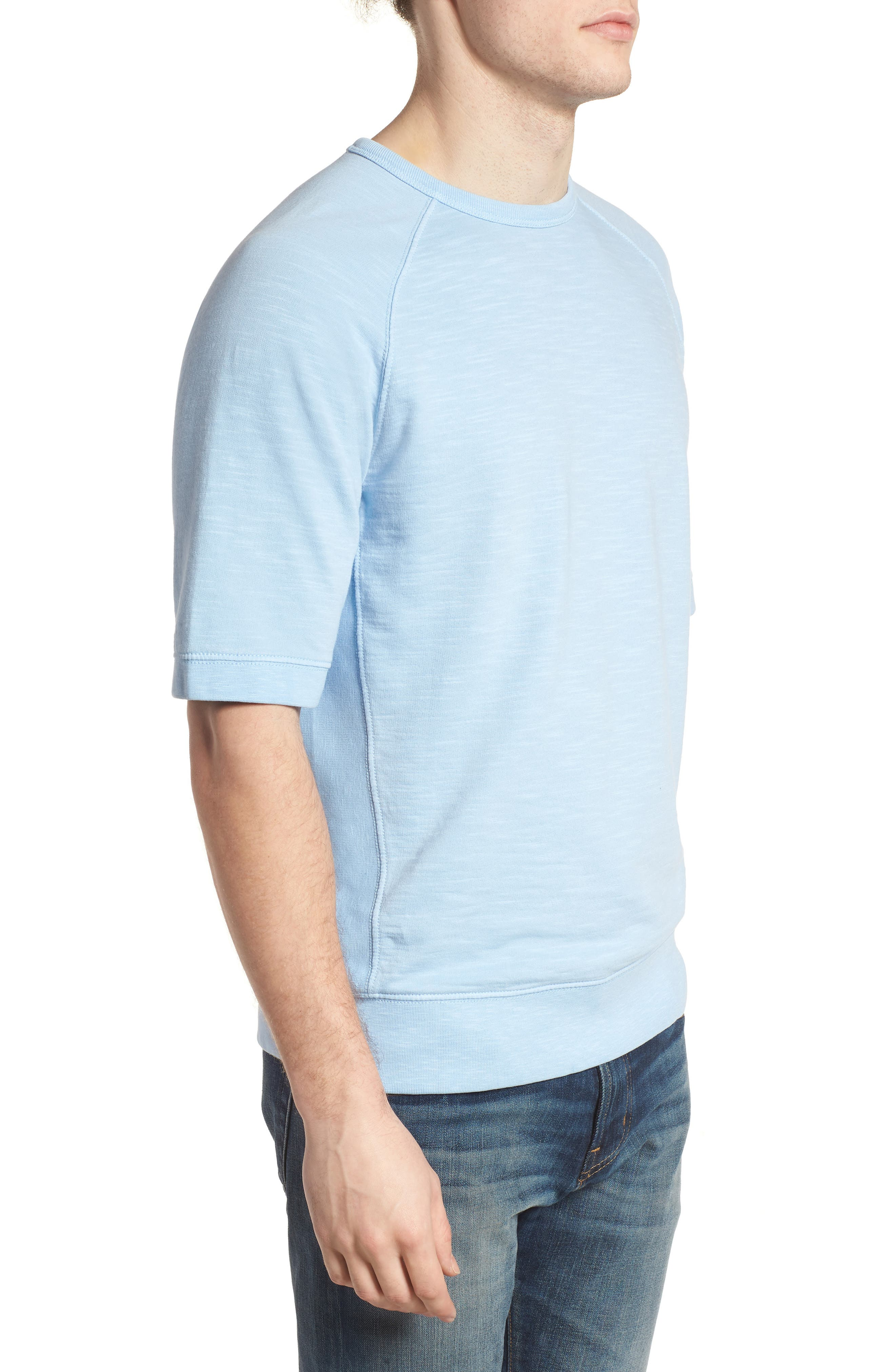 Workout Relaxed Fit Crewneck T-Shirt,                             Alternate thumbnail 3, color,                             Sky Blue