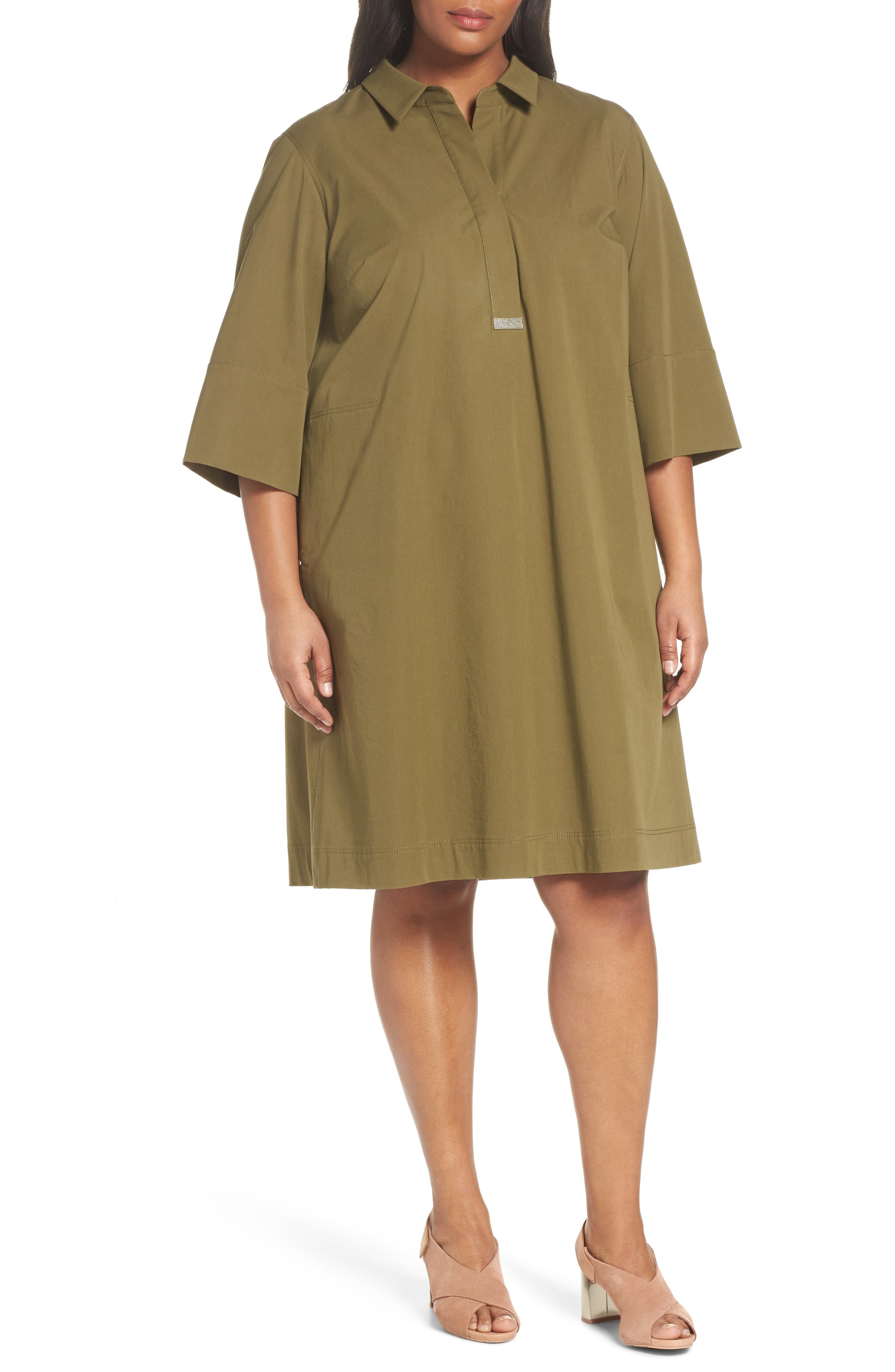Main Image - Lafayette 148 New York Cara Shift Dress (Plus Size)
