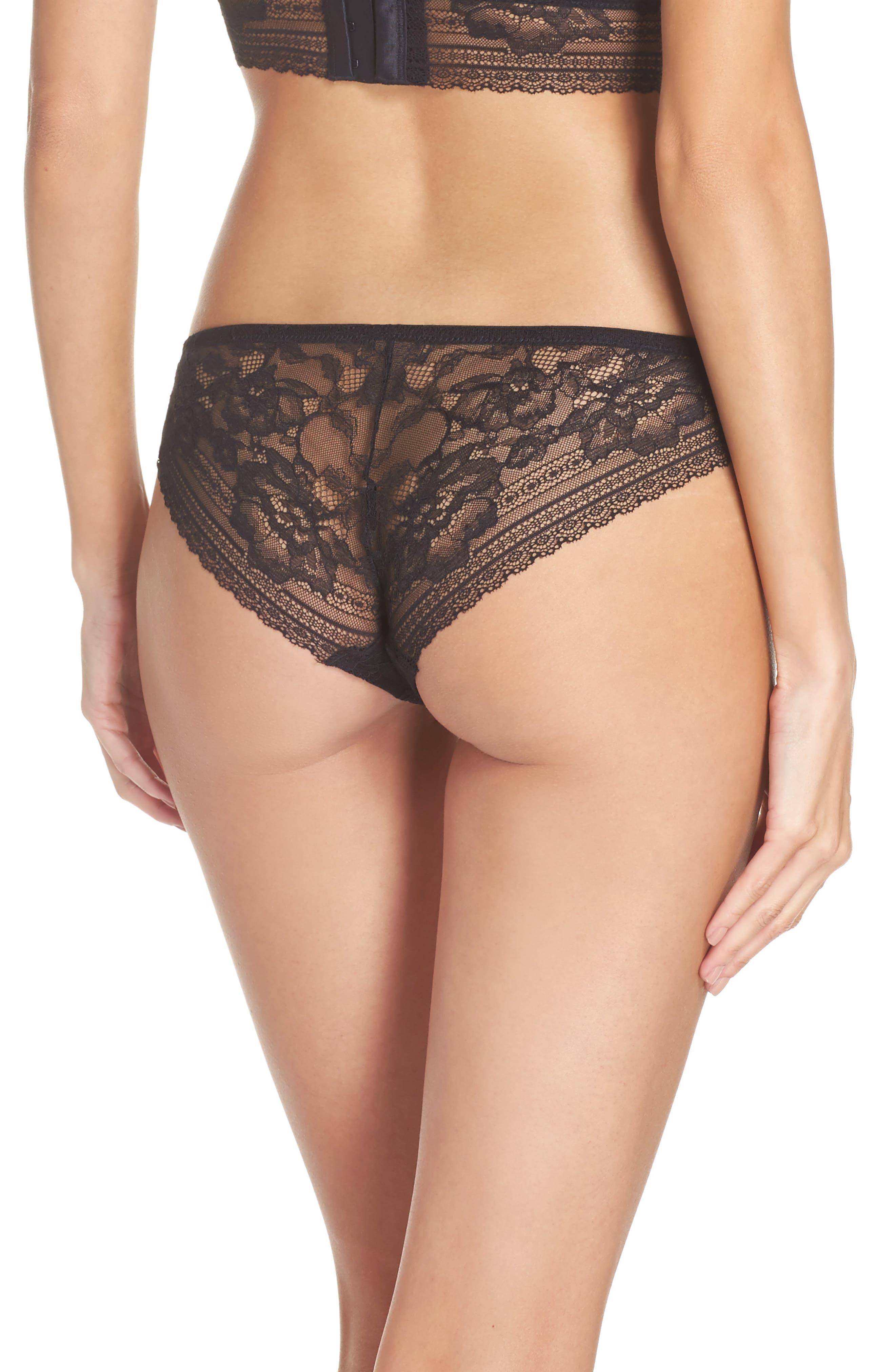 Intimately FP Sorento Lace Bikini,                             Alternate thumbnail 2, color,                             Black